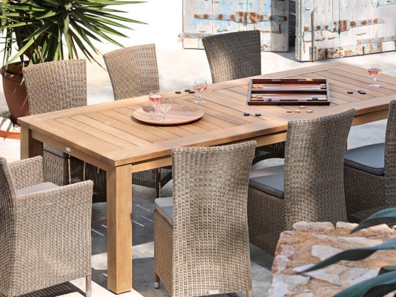 Milano tavolo da giardino rettangolare by manutti for Tavoli e sedie da giardino usati