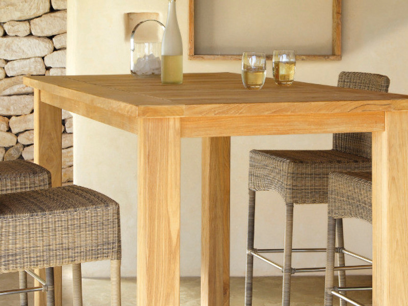 Milano table de jardin en teck by manutti - Table mange debout rectangulaire ...