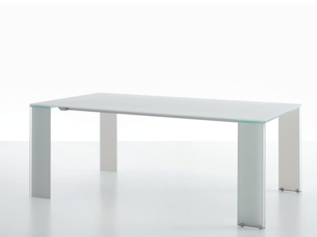 Ausziehbarer rechteckiger tisch aria by miniforms design for Tischdesign andrea