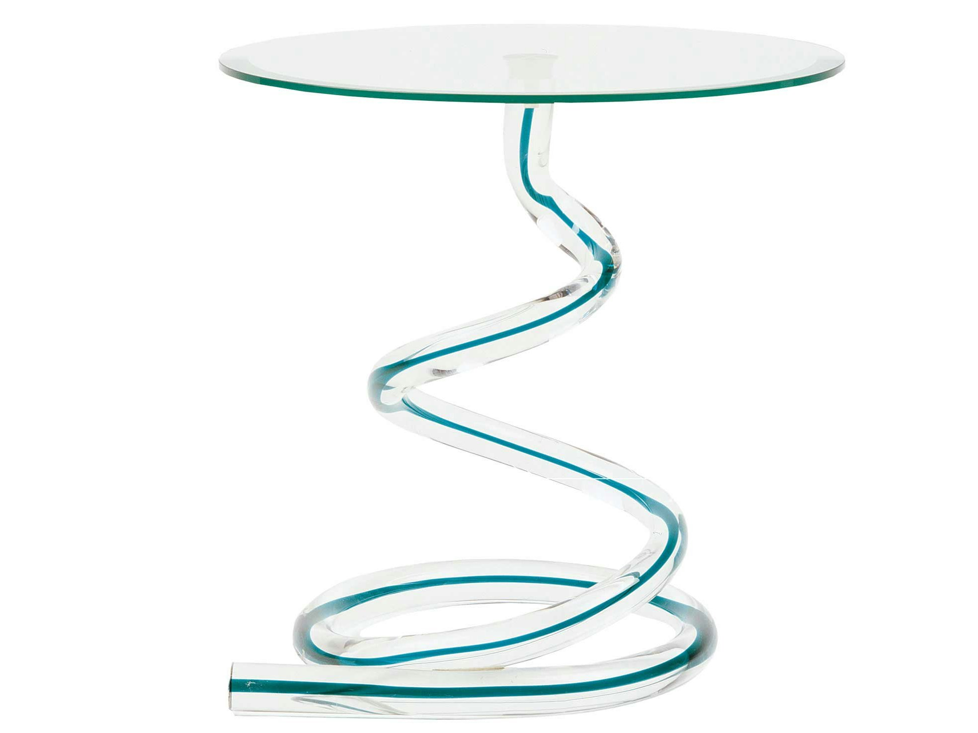 Table basse en verre de murano ghibli collection les - Table basse verre roche bobois ...
