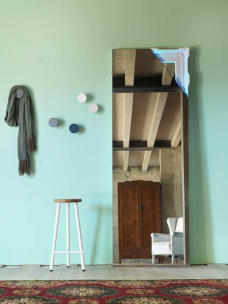 Specchio da terra rettangolare a parete con cornice BRECCIA by ...