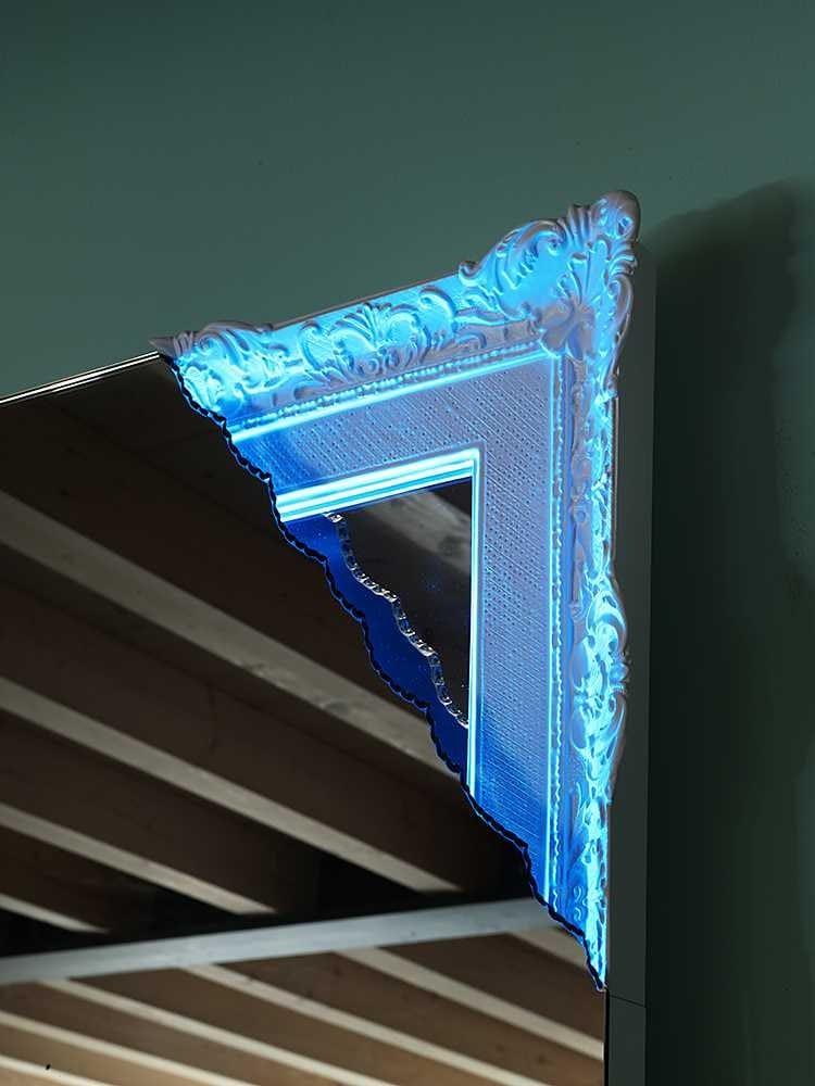 Specchio da terra rettangolare a parete con cornice breccia by miniforms design creative design - Specchio con cornice in gesso ...