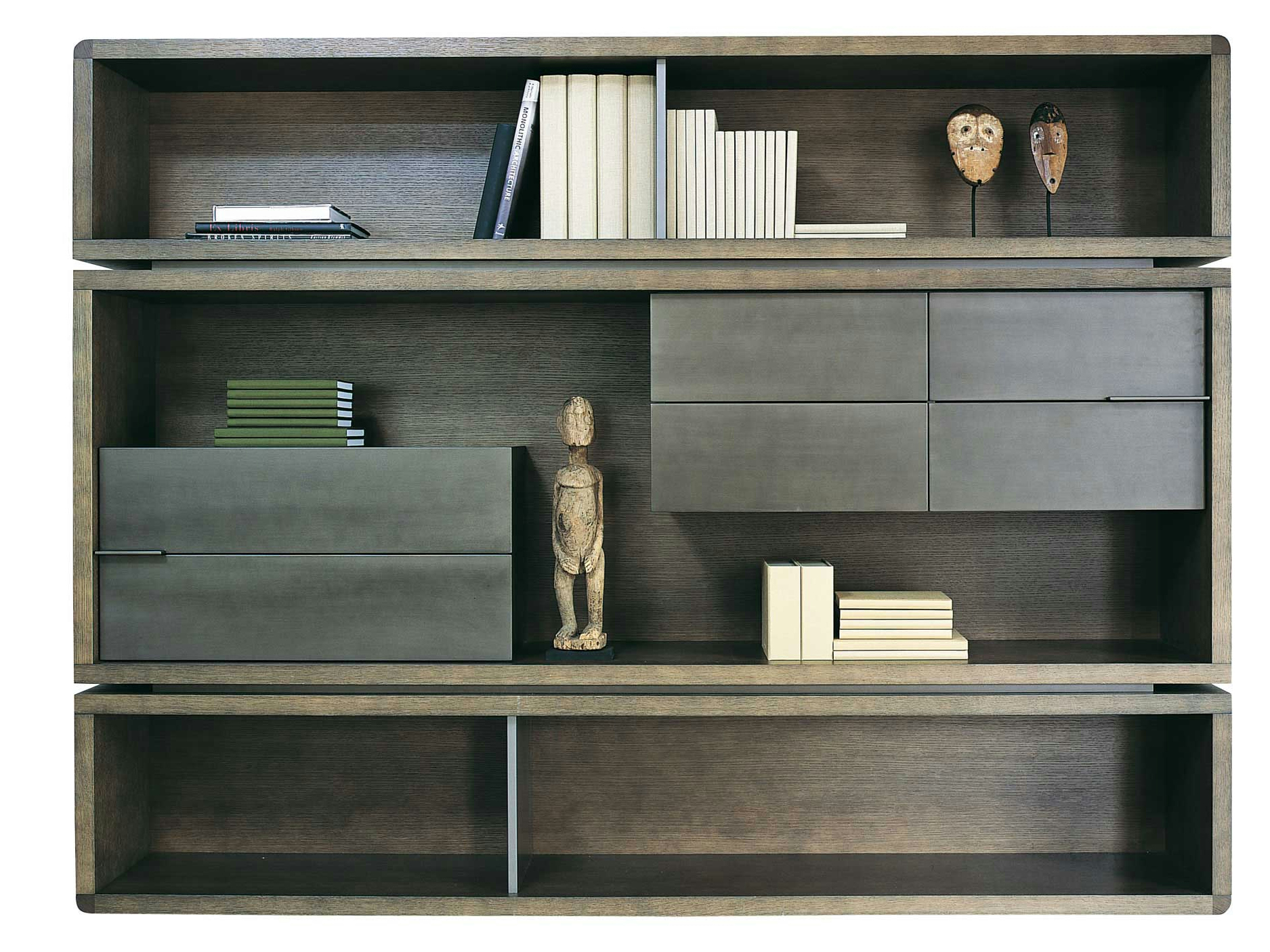 Biblioth que composable en ch ne rive droite collection les contemporains by roche bobois - Bibliotheque roche bobois ...