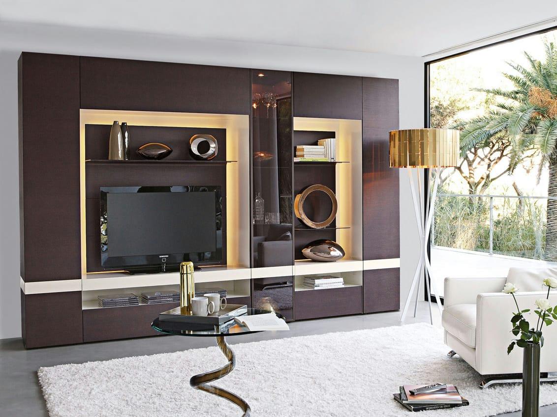 Mueble modular de pared composable zoom by roche bobois for Muebles roche bobois catalogo