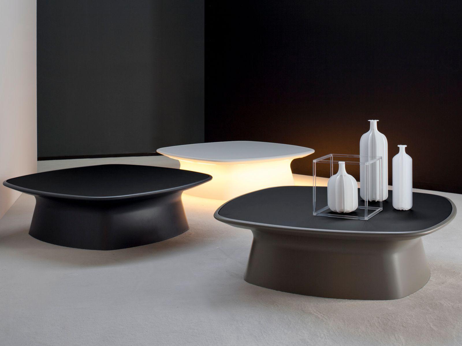 Niedriger Couchtisch AURA by Bonaldo Design Gino Carollo