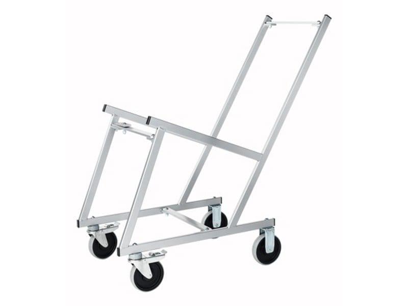 Carrello porta sedie stacking trolley by johanson design for Carrello porta ombrellone e sdraio