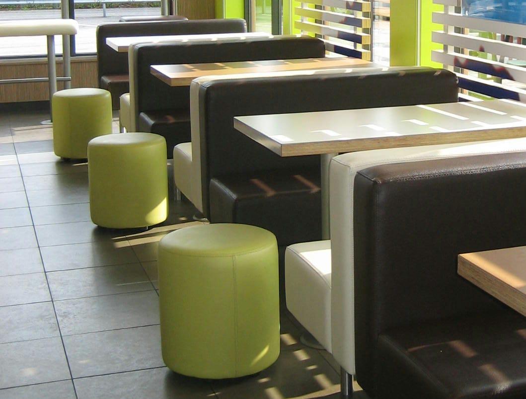 upholstered fabric pouf bob by johanson design design pinc. Black Bedroom Furniture Sets. Home Design Ideas