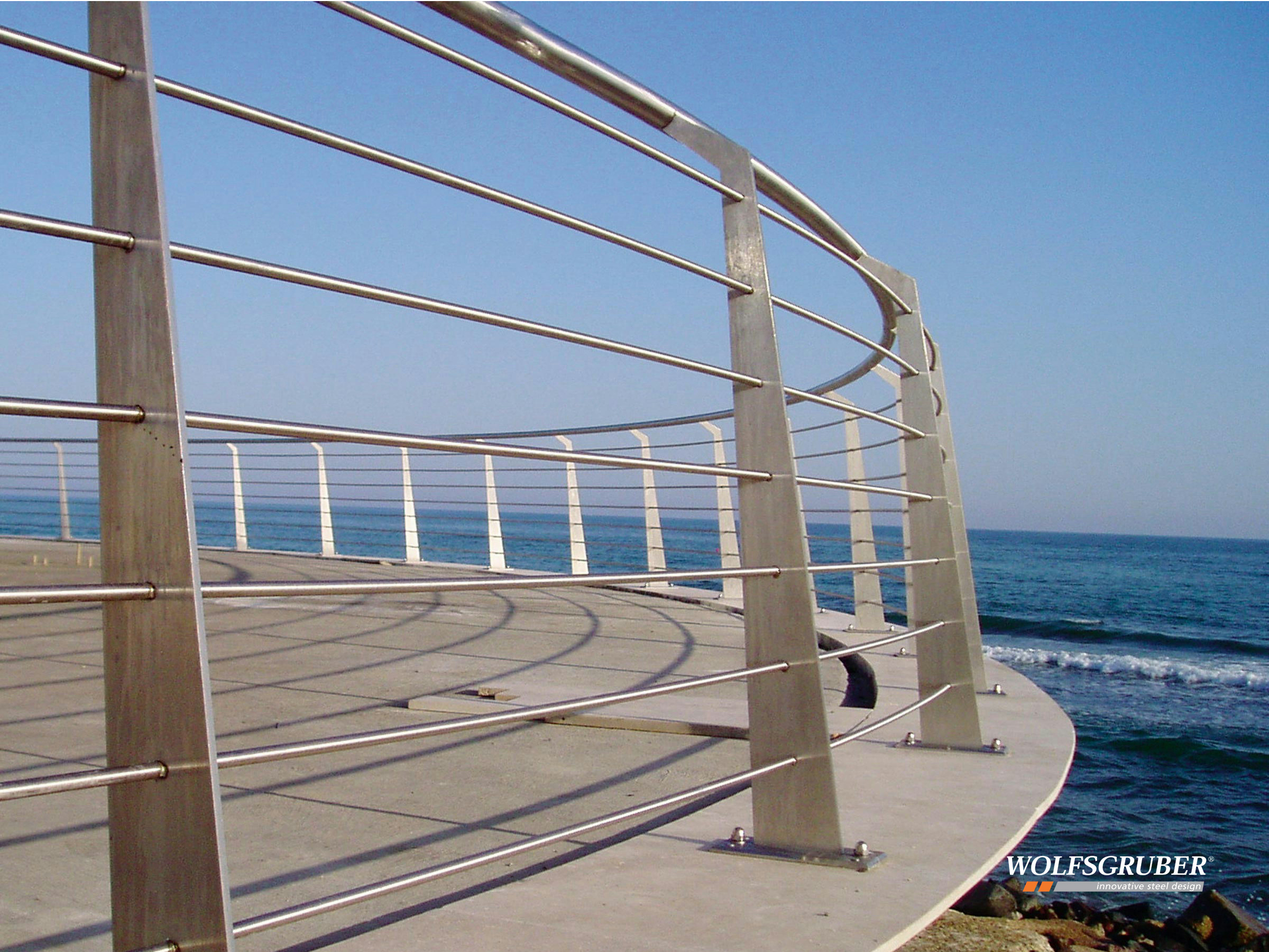 Stainless steel stair balustrade laser by wolfsgruber - Barandas de acero inoxidable ...