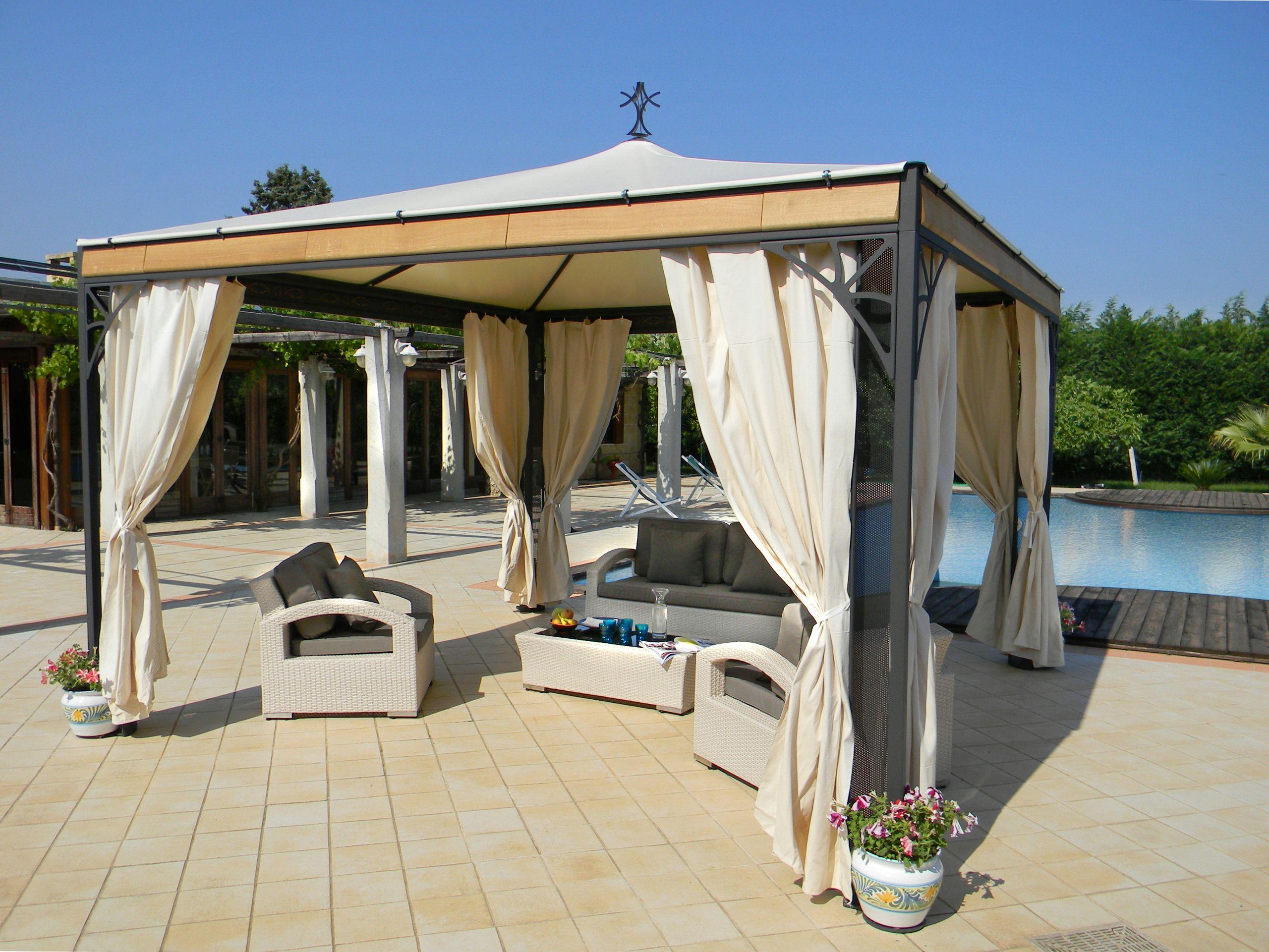 gartenpavillon aus stahl perla kollektion golden by sprech. Black Bedroom Furniture Sets. Home Design Ideas