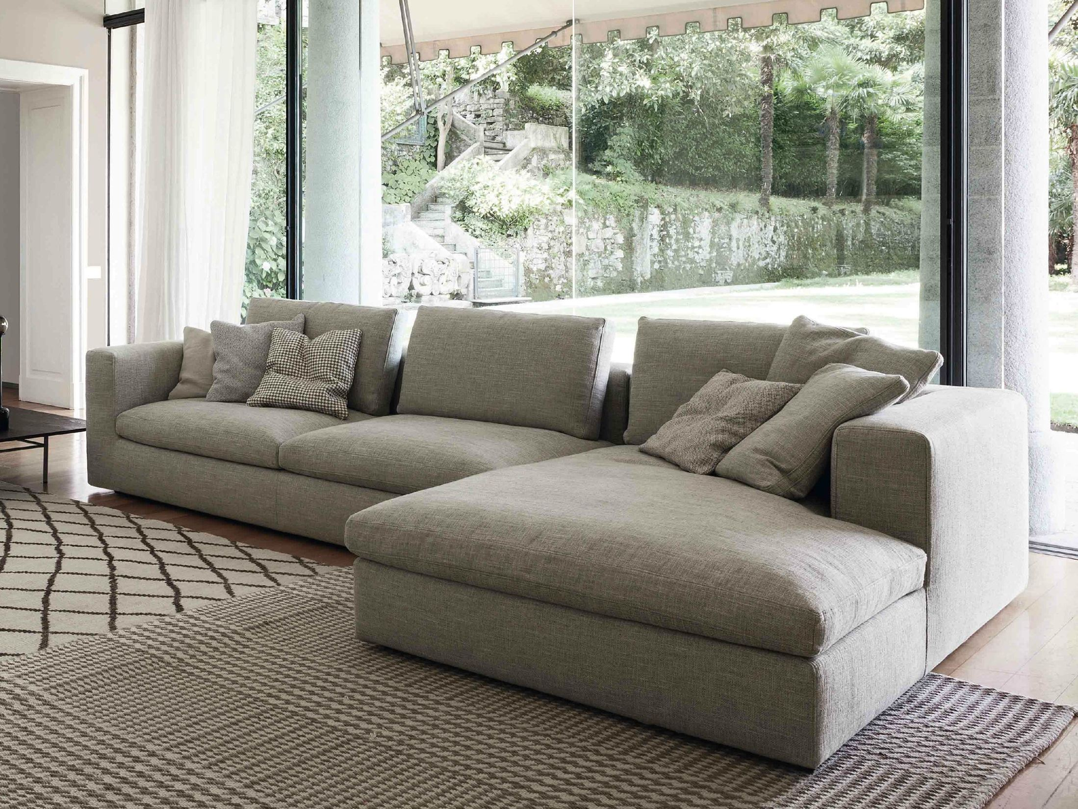 Land sofa with chaise longue by bonaldo - Canape chesterfield beige ...