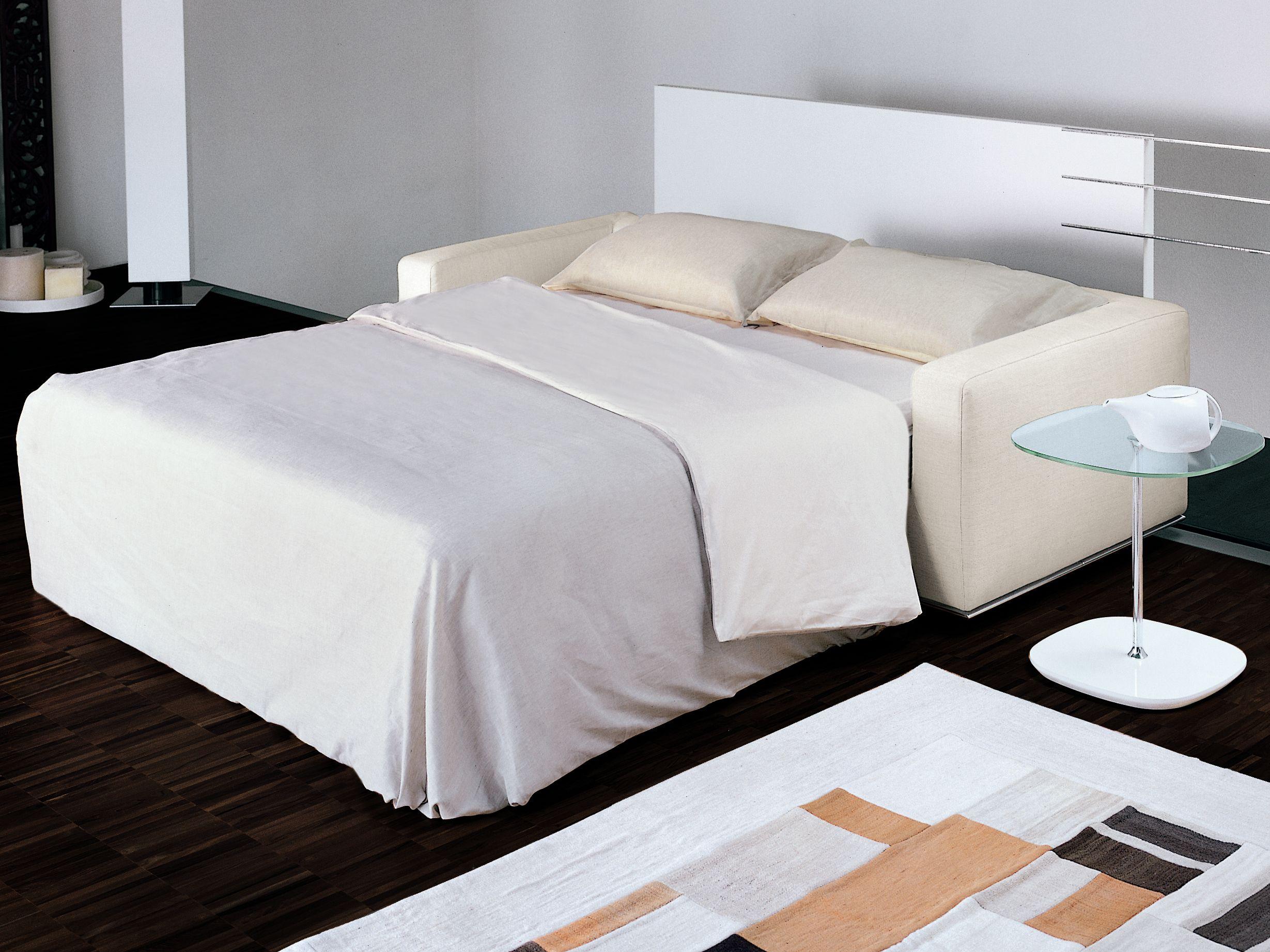 Upholstered sofa bed boston by bonaldo design pier for Upholstered divan bed