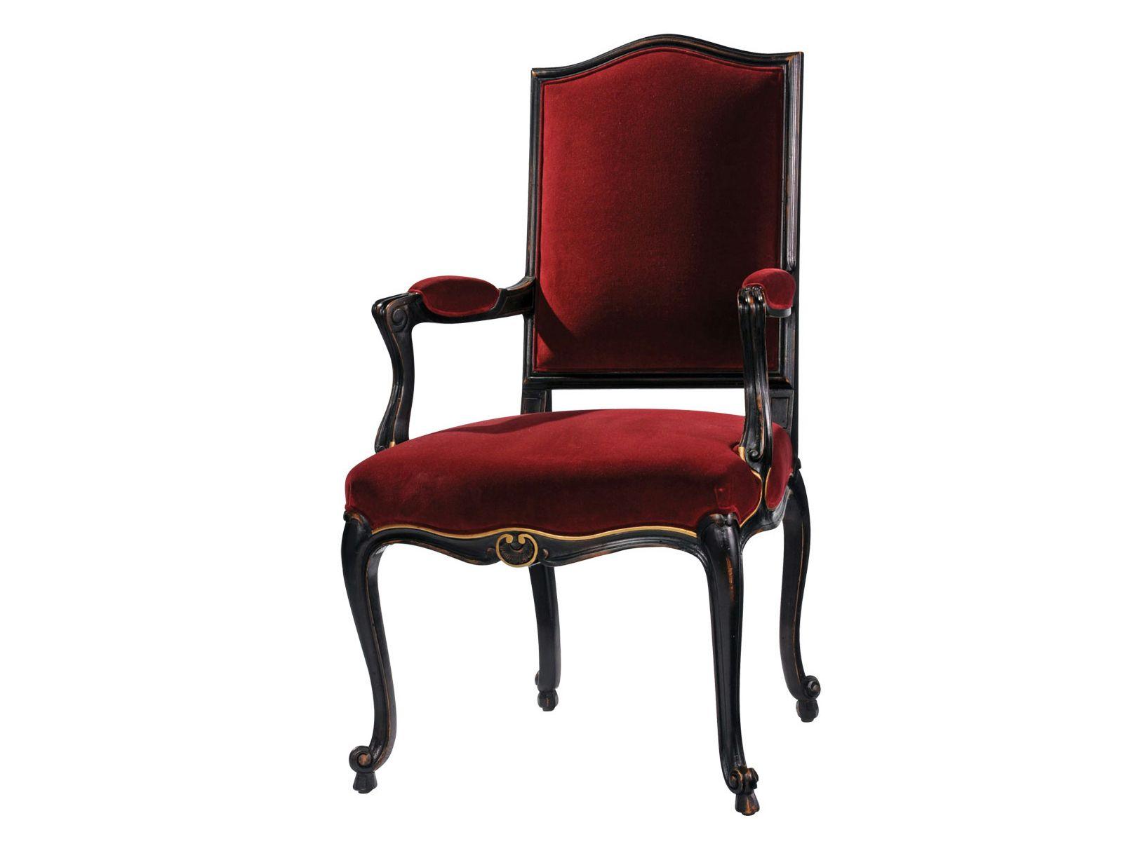 Chaise en h tre avec accoudoirs volutes collection for Chaise en hetre
