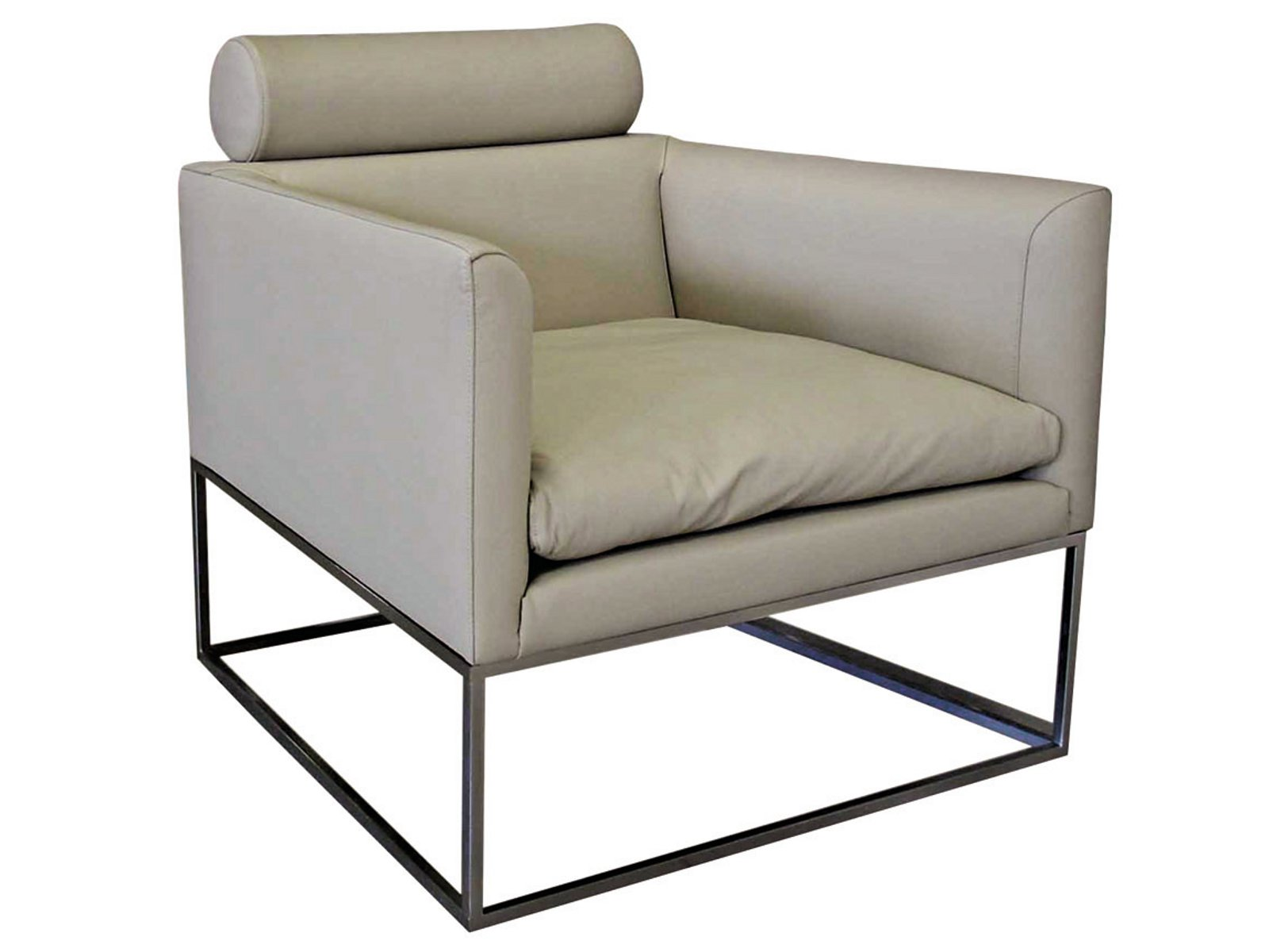 Fauteuil en cuir cadrage collection les contemporains by roche bobois design giorgio soressi for Chaise roche bobois cuir