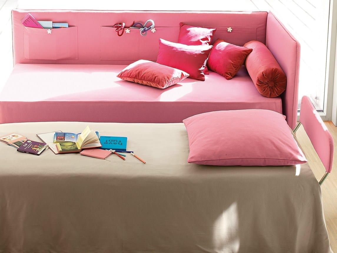 Bett mit bettkasten mit abnehmbarem bezug peggy bonaldo - Bett mit seitenwand ...