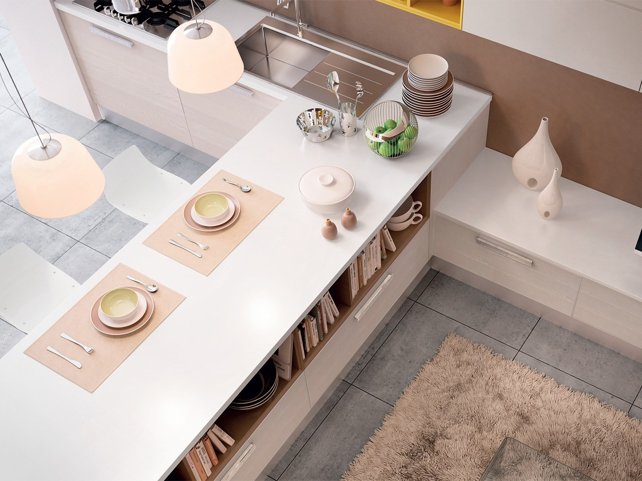 ADELE PROJECT | Wooden kitchen By Cucine Lube