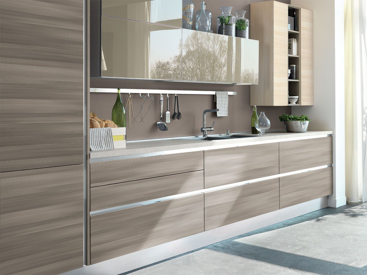 Essenza cuisine int gr e by cucine lube for Cuisine integree bois