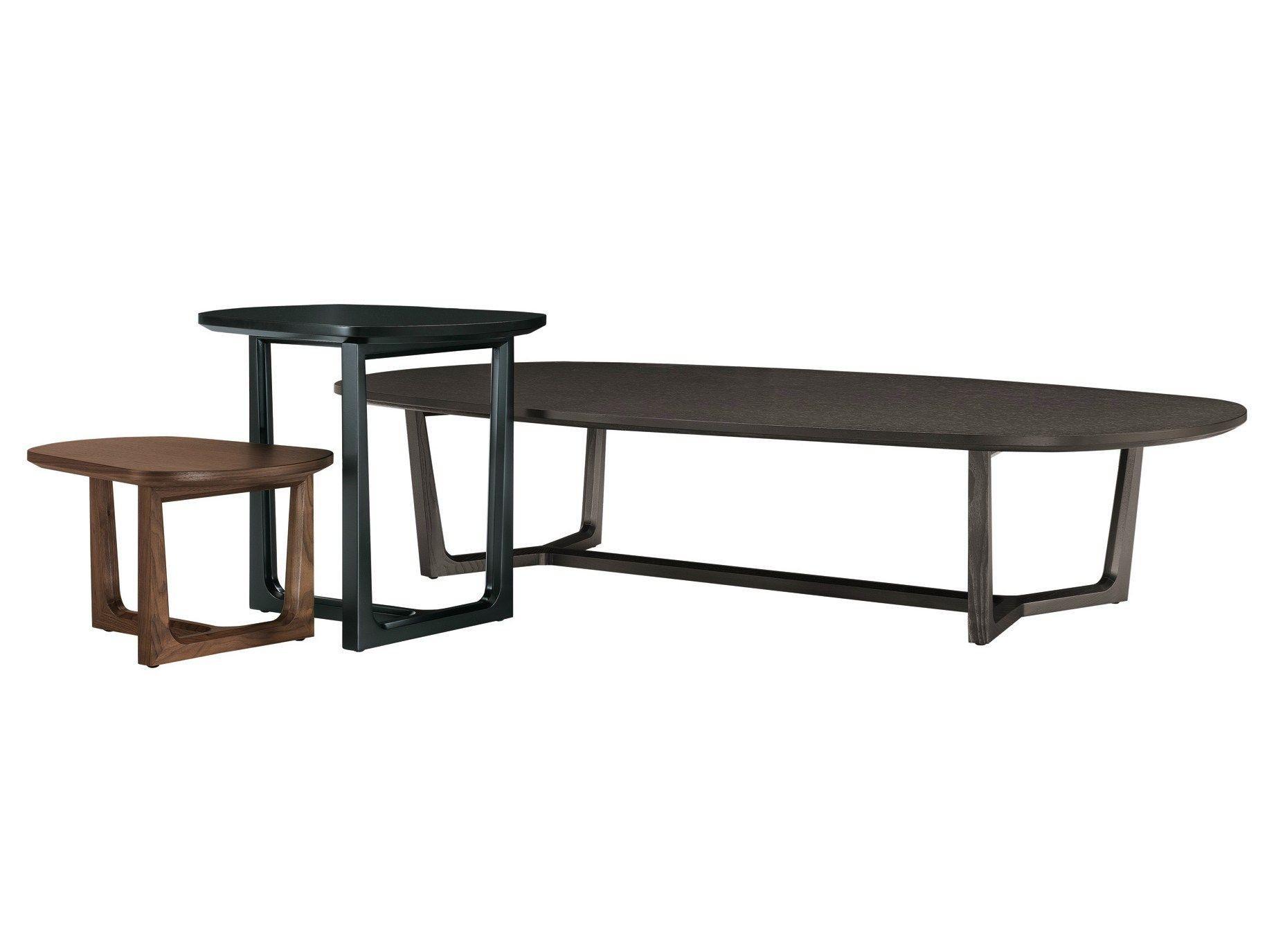 table basse ovale en bois de salon tridente by poliform design emmanuel gallina. Black Bedroom Furniture Sets. Home Design Ideas