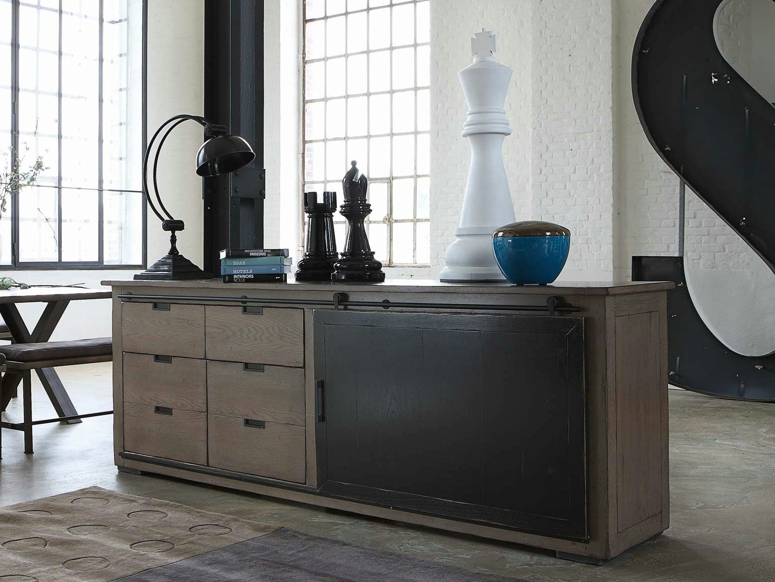 maxime buffet by roche bobois design michel goineau. Black Bedroom Furniture Sets. Home Design Ideas