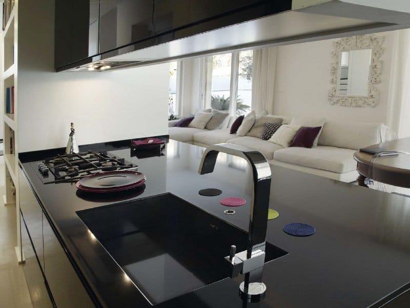 Cucina laccata con isola g180 parigi - tm italia cucine