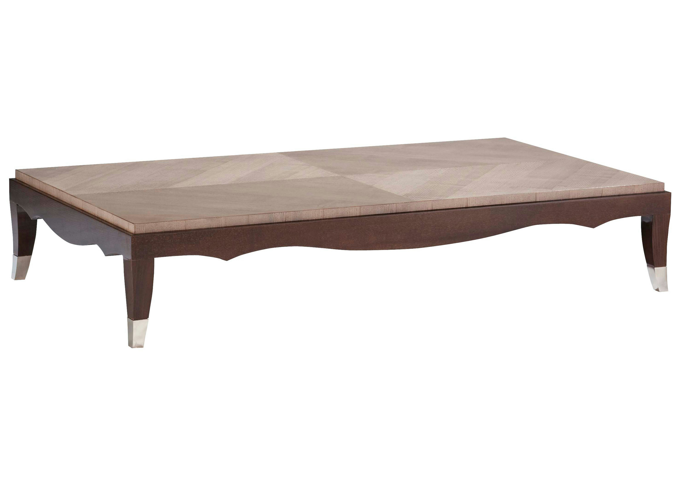 Rectangular wood veneer coffee table grand hotel nouveaux classiques collection by roche bobois Roche bobois coffee table