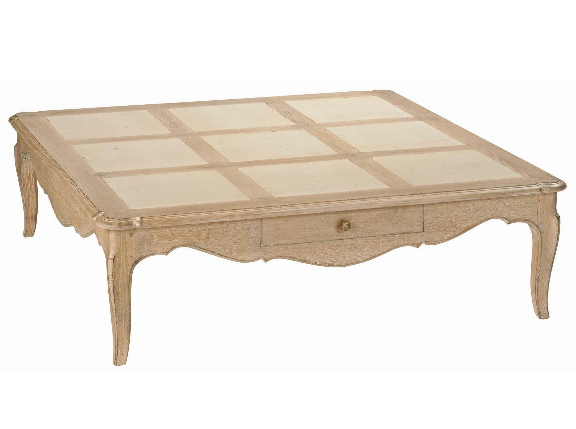 Square Oak Coffee Table Louis Marie Nouveaux Classiques Collection By Roche Bobois Design Jean