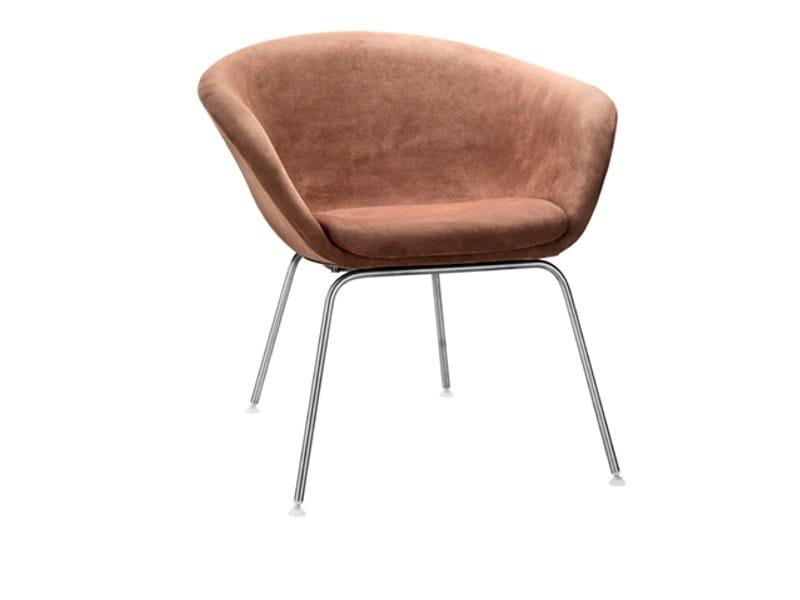 Duna petit fauteuil empilable by arper design lievore altherr molina - Petit fauteuil en cuir ...