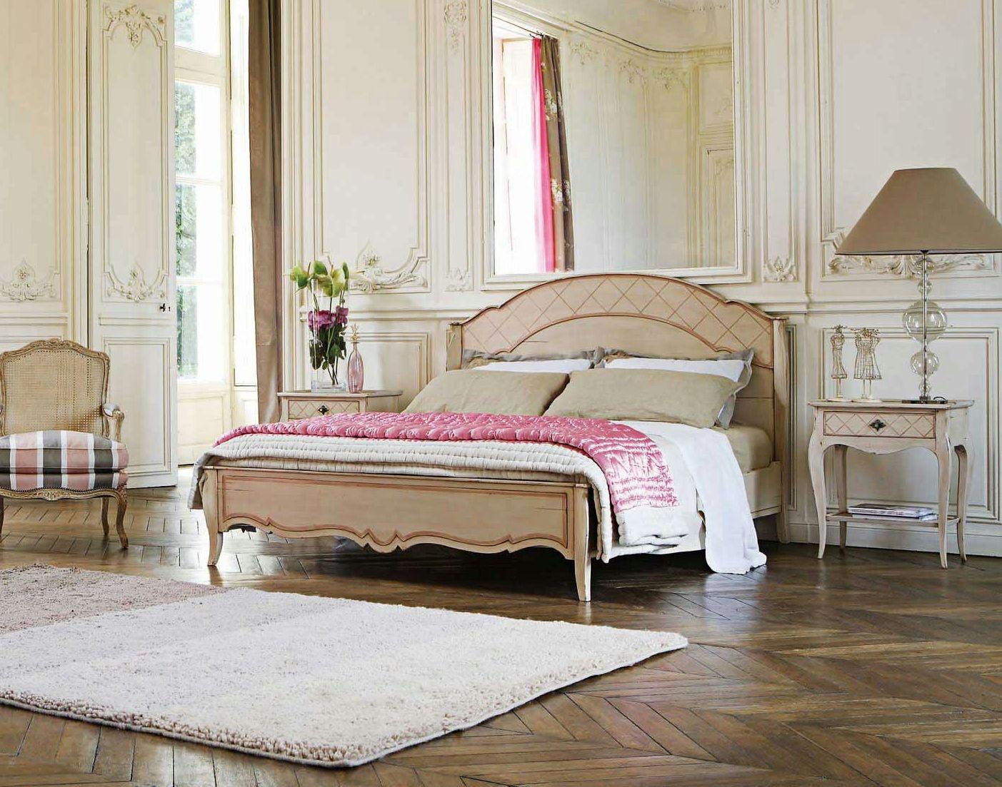 wooden double bed collonges nouveaux classiques collection by roche bobois design jean. Black Bedroom Furniture Sets. Home Design Ideas
