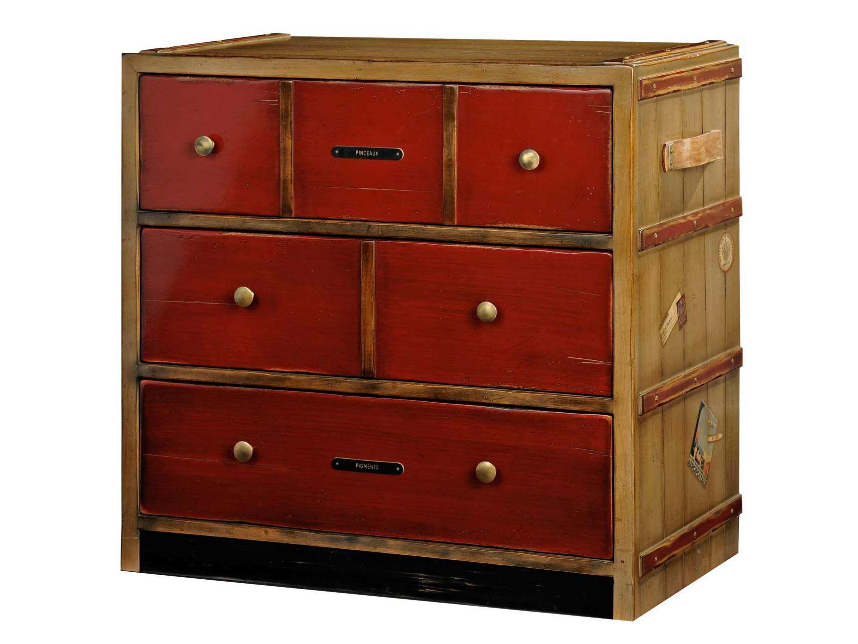 chiffonnier en cerisier correspondances collection nouveaux classiques by roche bobois. Black Bedroom Furniture Sets. Home Design Ideas