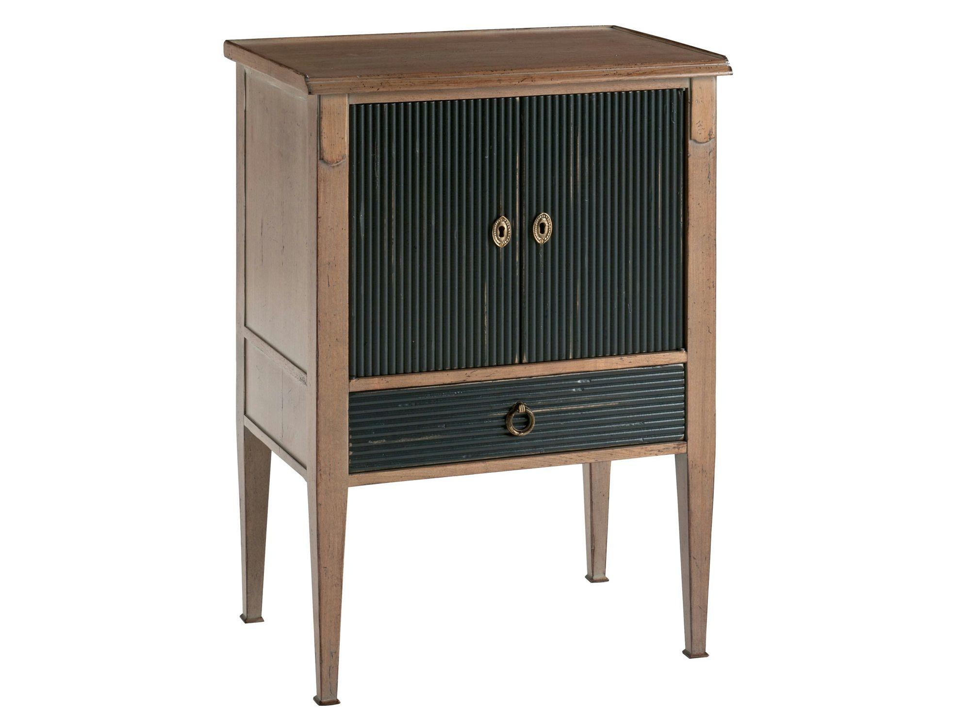 Table de nuit en bois avec tiroirs beaulieu collection for Table de nuit en bois