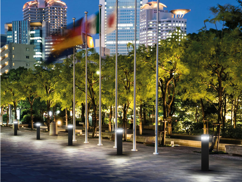 led garden aluminium bollard light q by prisma architectural by performance in lighting. Black Bedroom Furniture Sets. Home Design Ideas