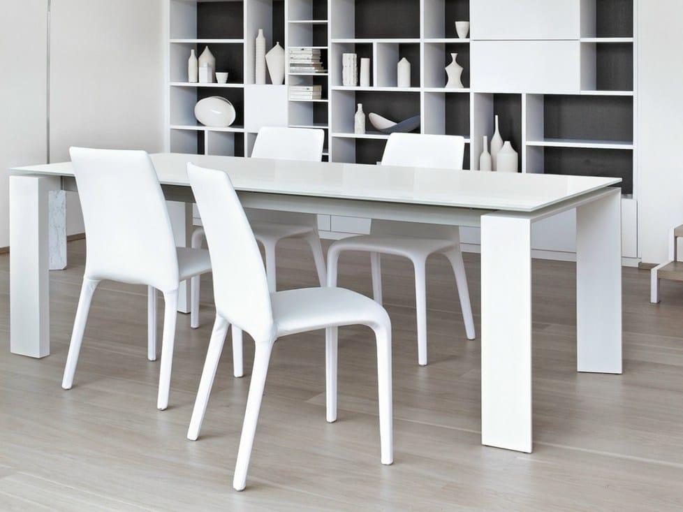 Tavolo allungabile rettangolare twice by bonaldo design for Tavolo rettangolare design