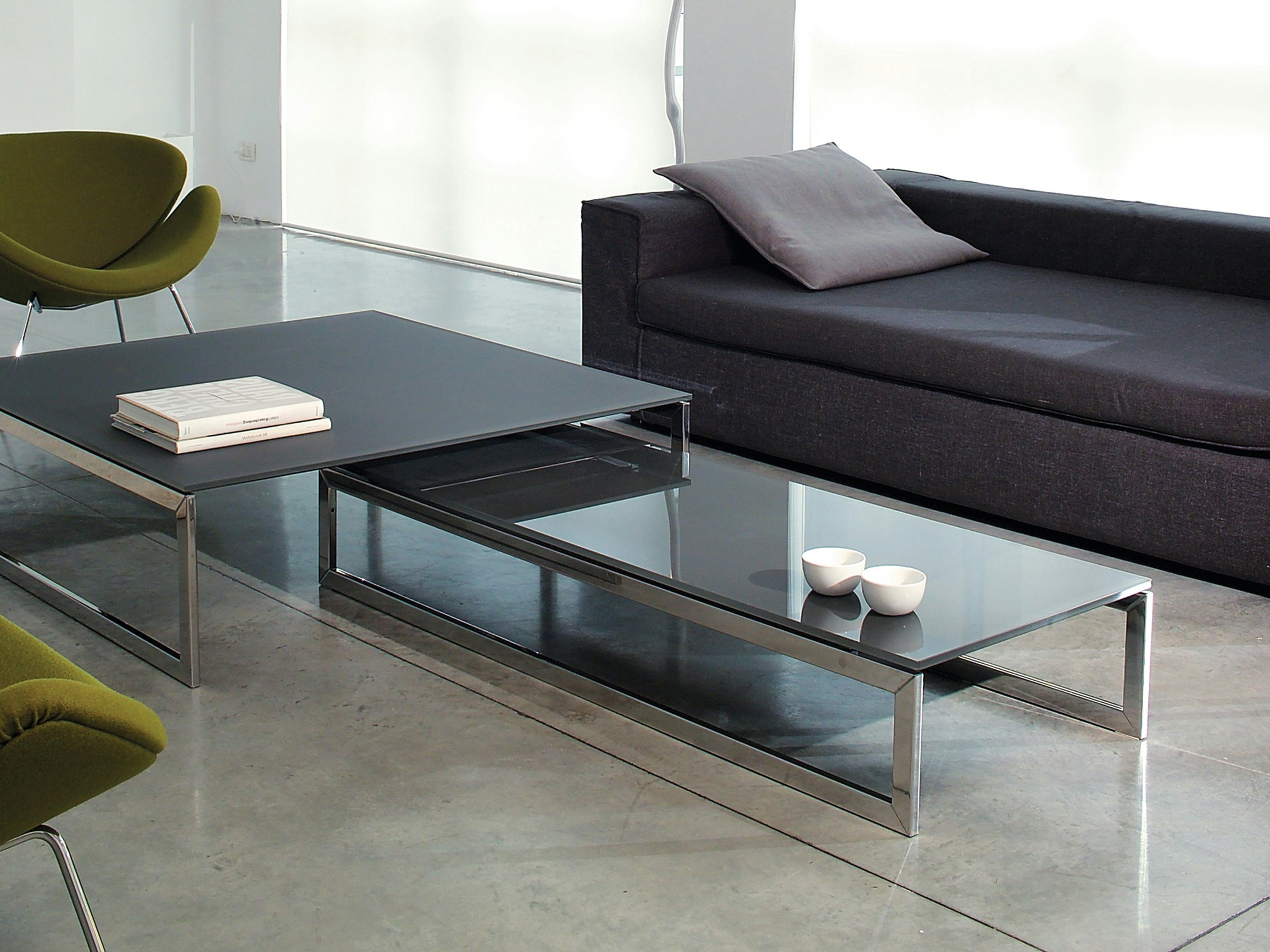 Rectangular Crystal Coffee Table Square By Gallotti Radice
