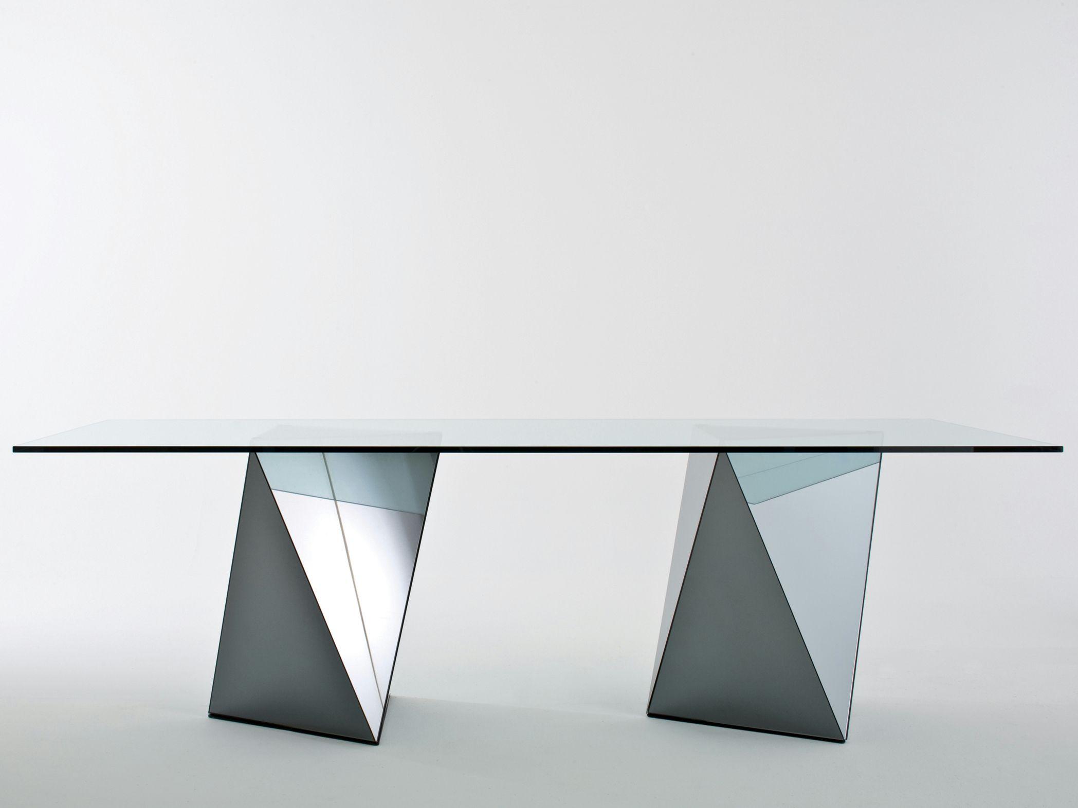 Tavolo rettangolare in cristallo yan by gallotti radice - Gallotti e radice tavoli ...