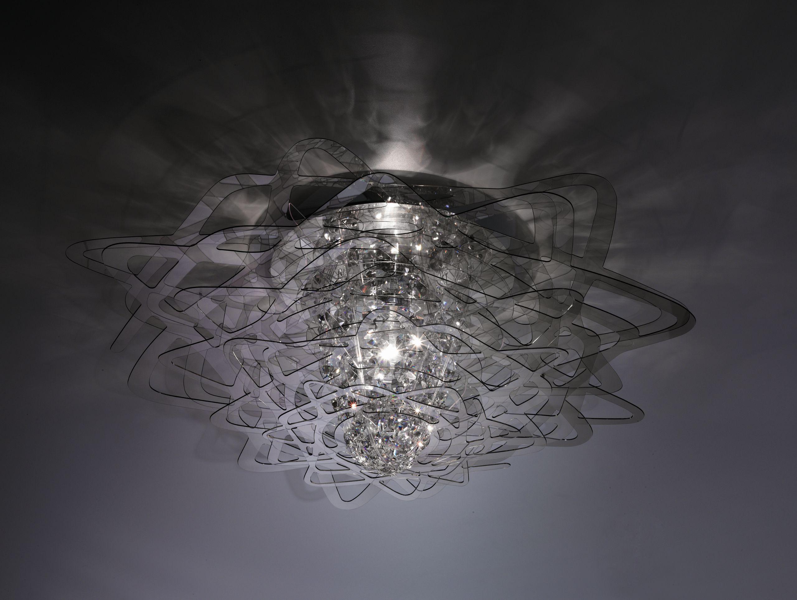 PLAFONIERA COLLEZIONE AURORA BY SLAMP  DESIGN NIGEL COATES