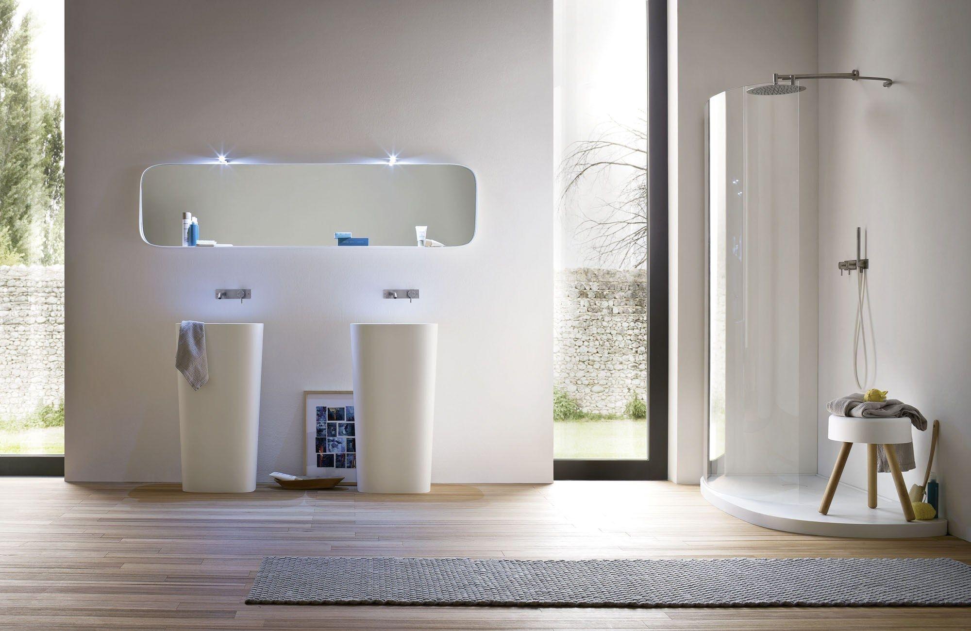 Fonte lavabo sur pied by rexa design design monica graffeo - Ambientazioni bagni design ...