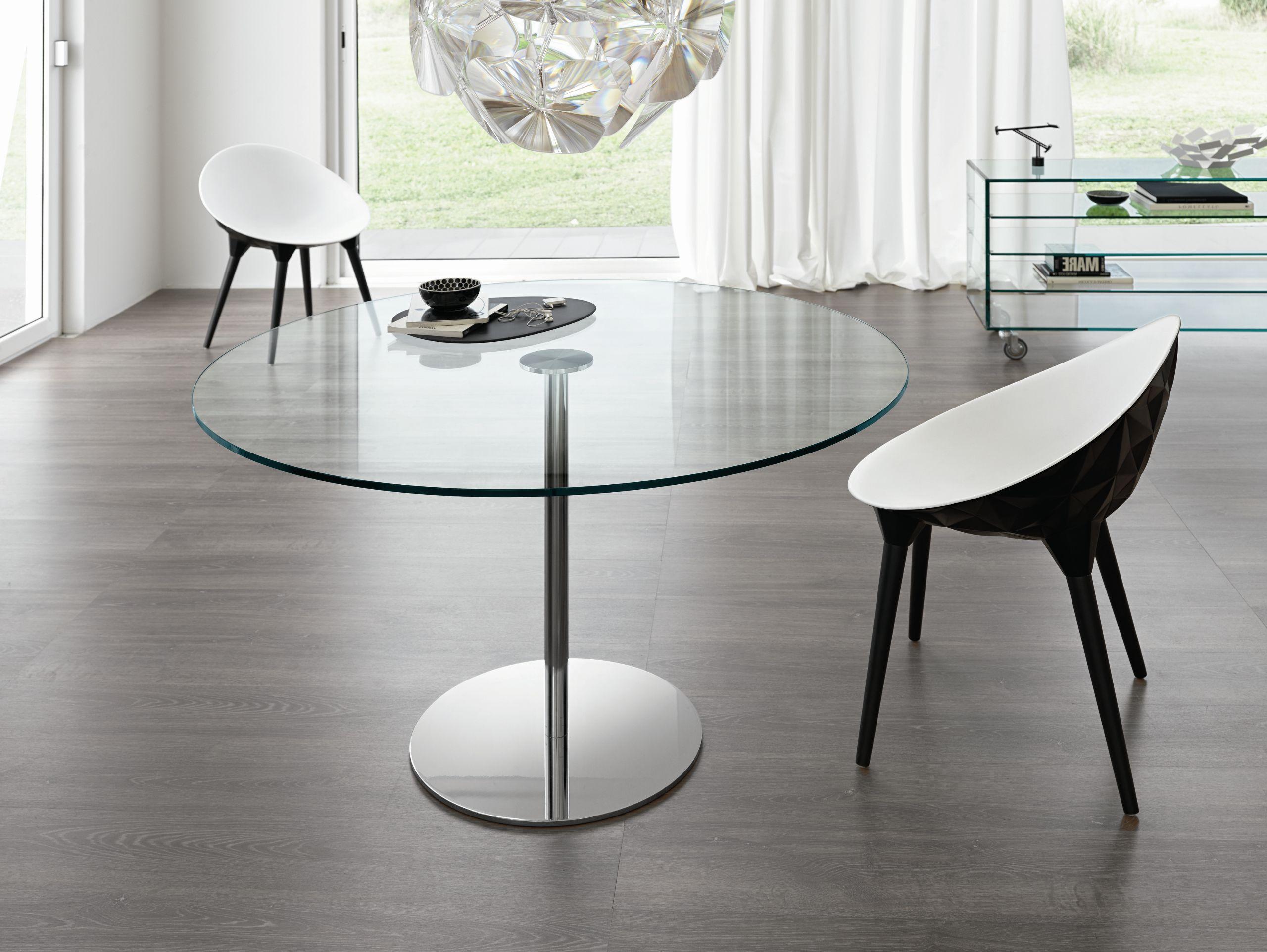 Farniente alto mesa redonda by t d tonelli design dise o - Mesas de vidrio templado ...