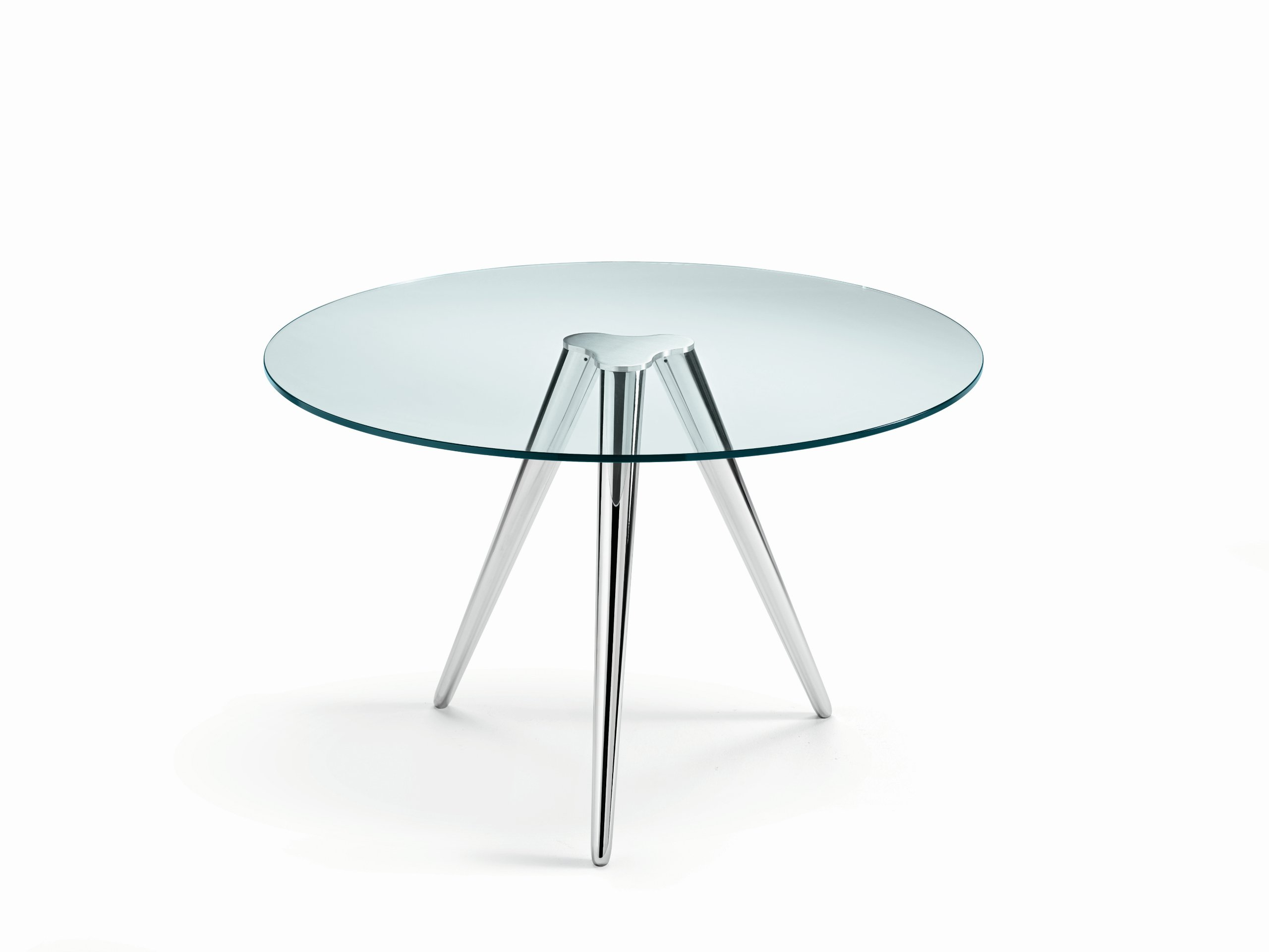 Round glass table unity by t d tonelli design design - Tables rondes en verre ...