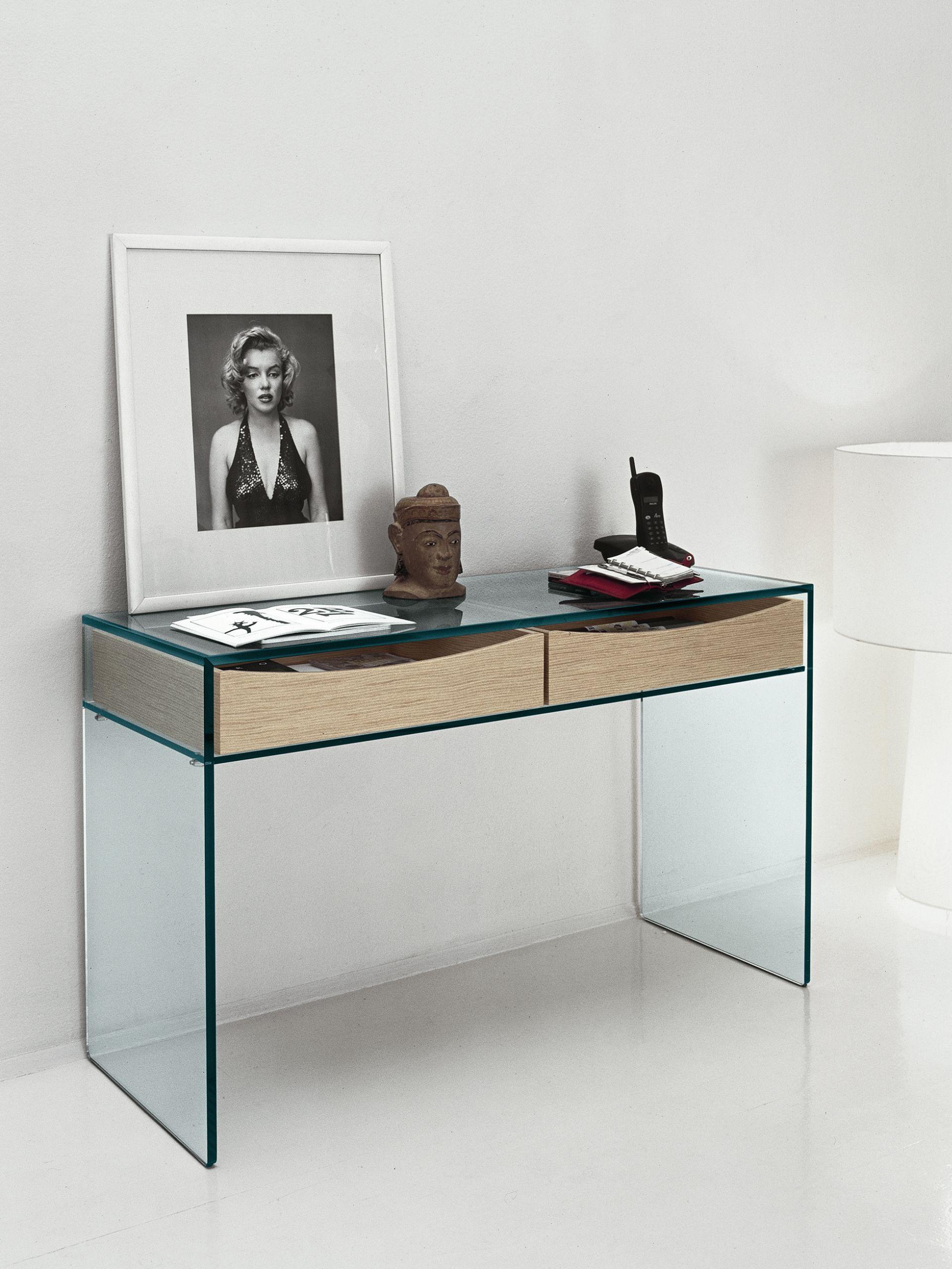 scrivania in vetro gulliver 2 by t d tonelli design