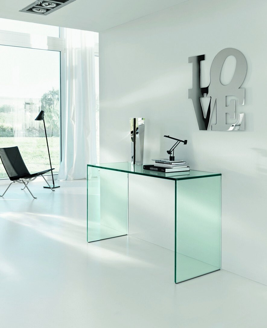 Bureau en verre gulliver by t d tonelli design - Bureau en verre design ...