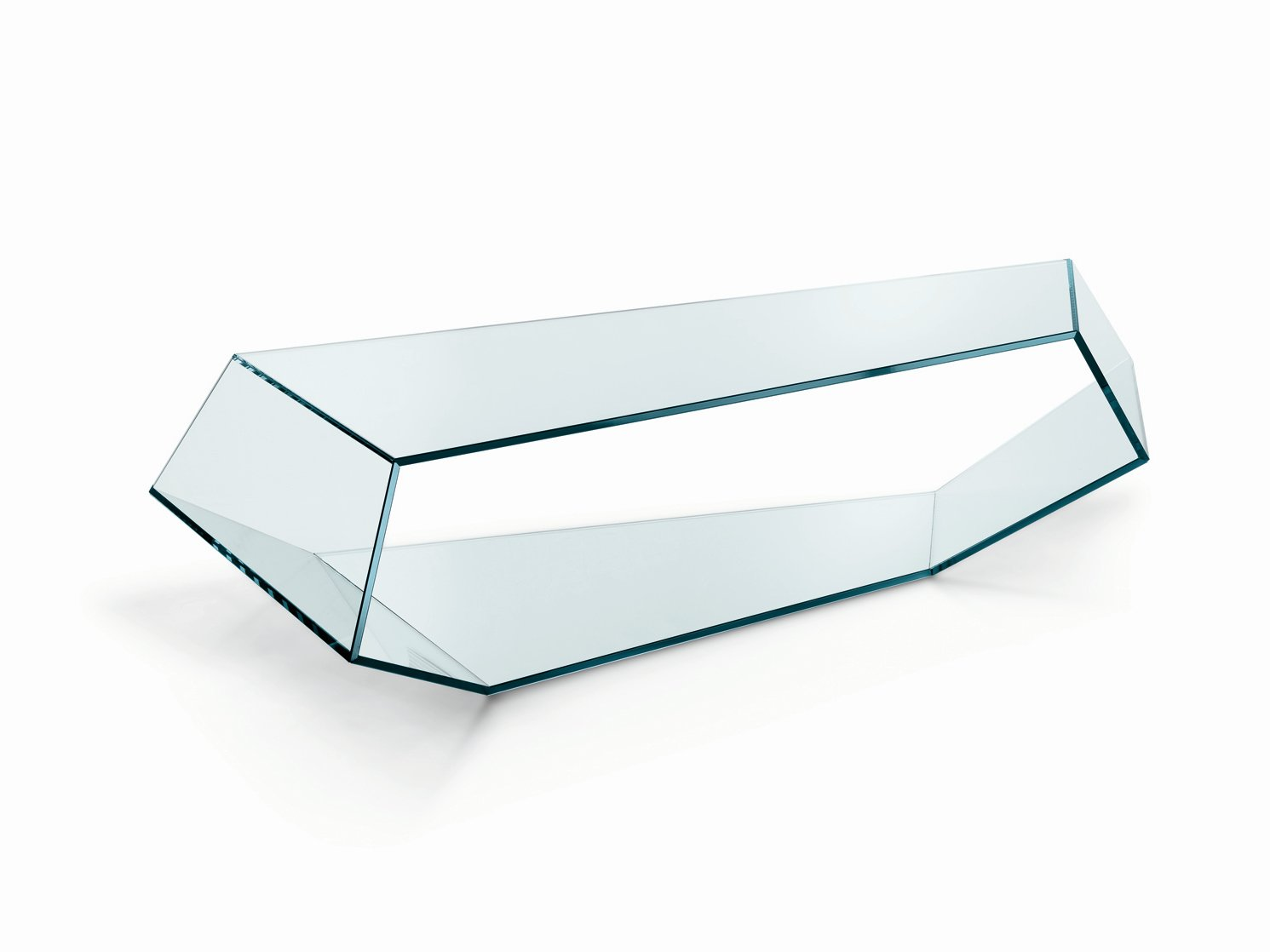 Table basse en verre dekon 2 by t d tonelli design design karim rashid - Table basse verre design ...