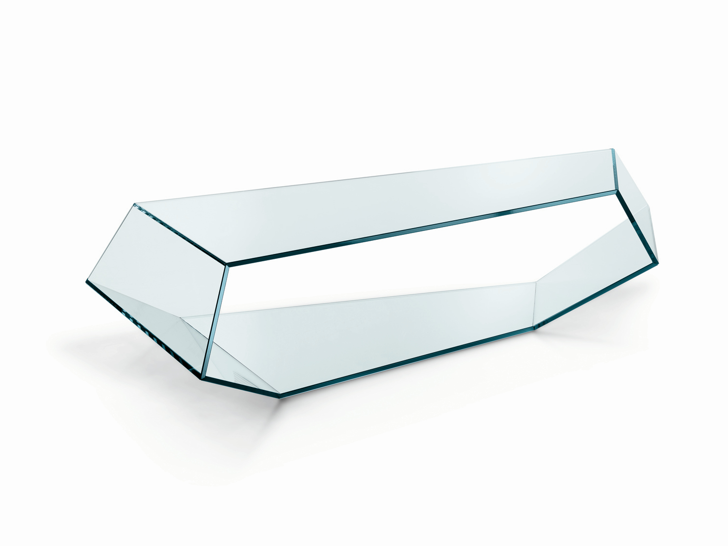 Table basse en verre dekon 2 by t d tonelli design design karim rashid - Table basse design en verre ...