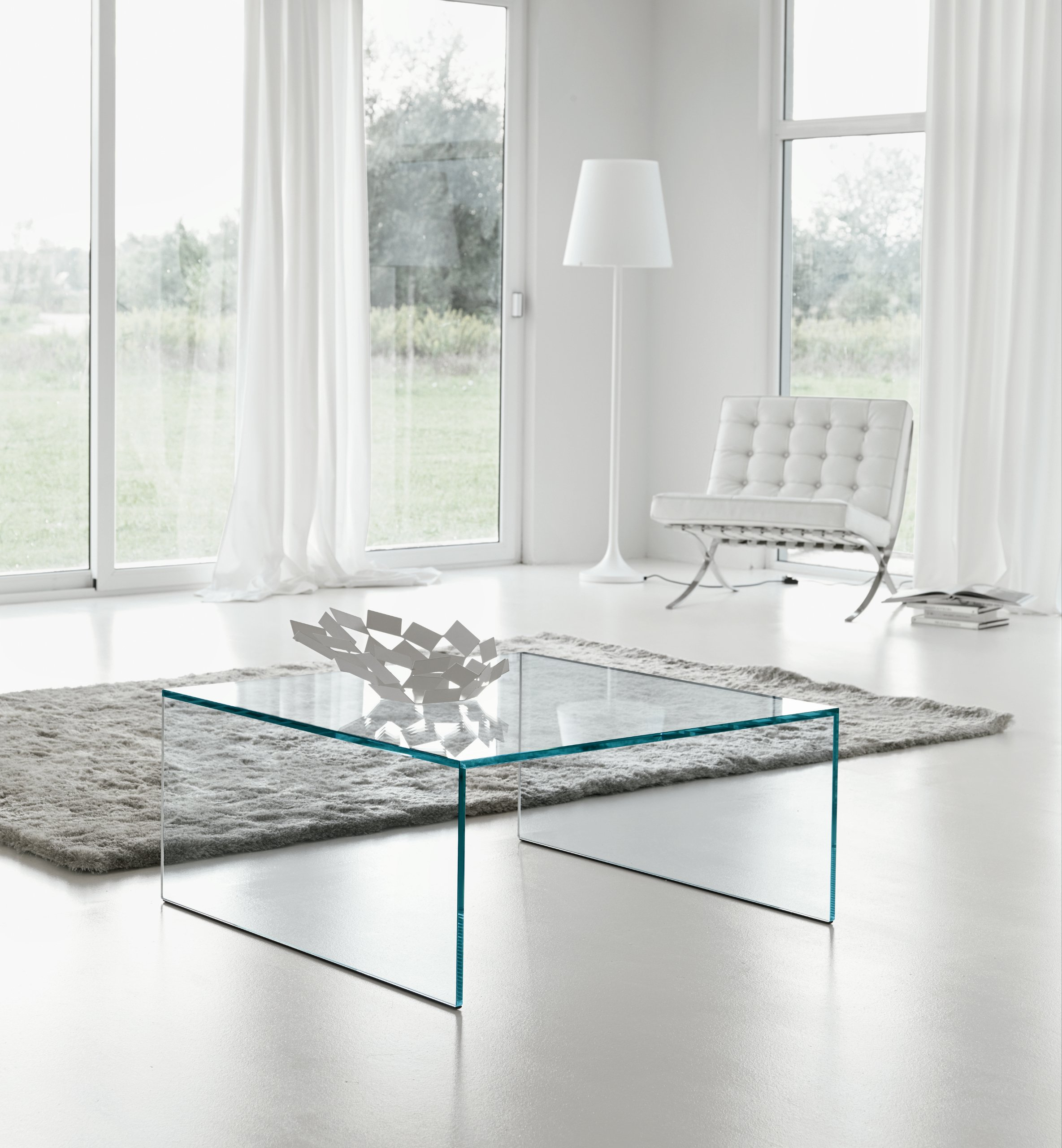 Table basse en verre eden by t d tonelli design - Table basse verre design ...