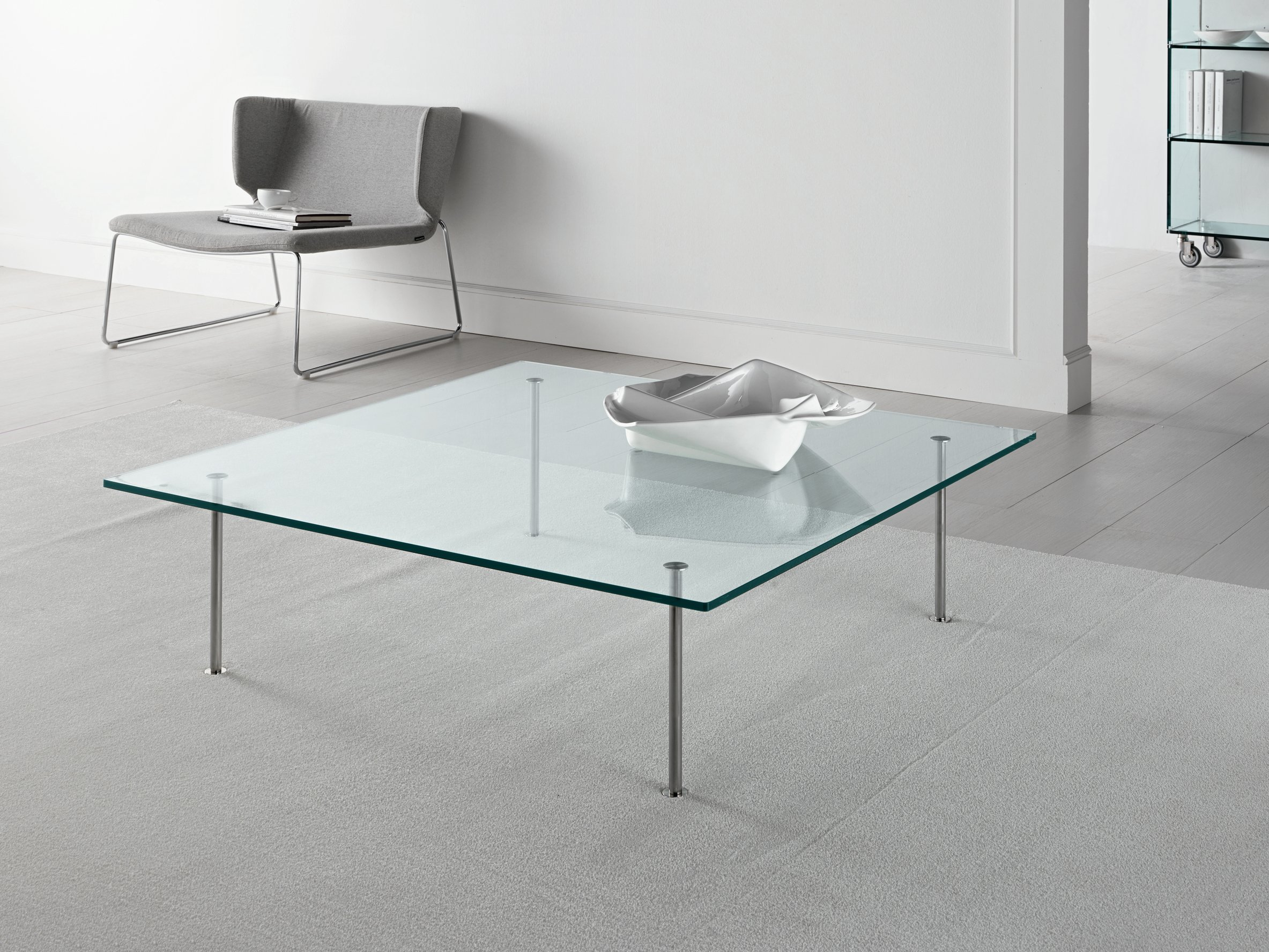 GLASS COFFEE TABLE TWIG BY TD TONELLI DESIGN DESIGN