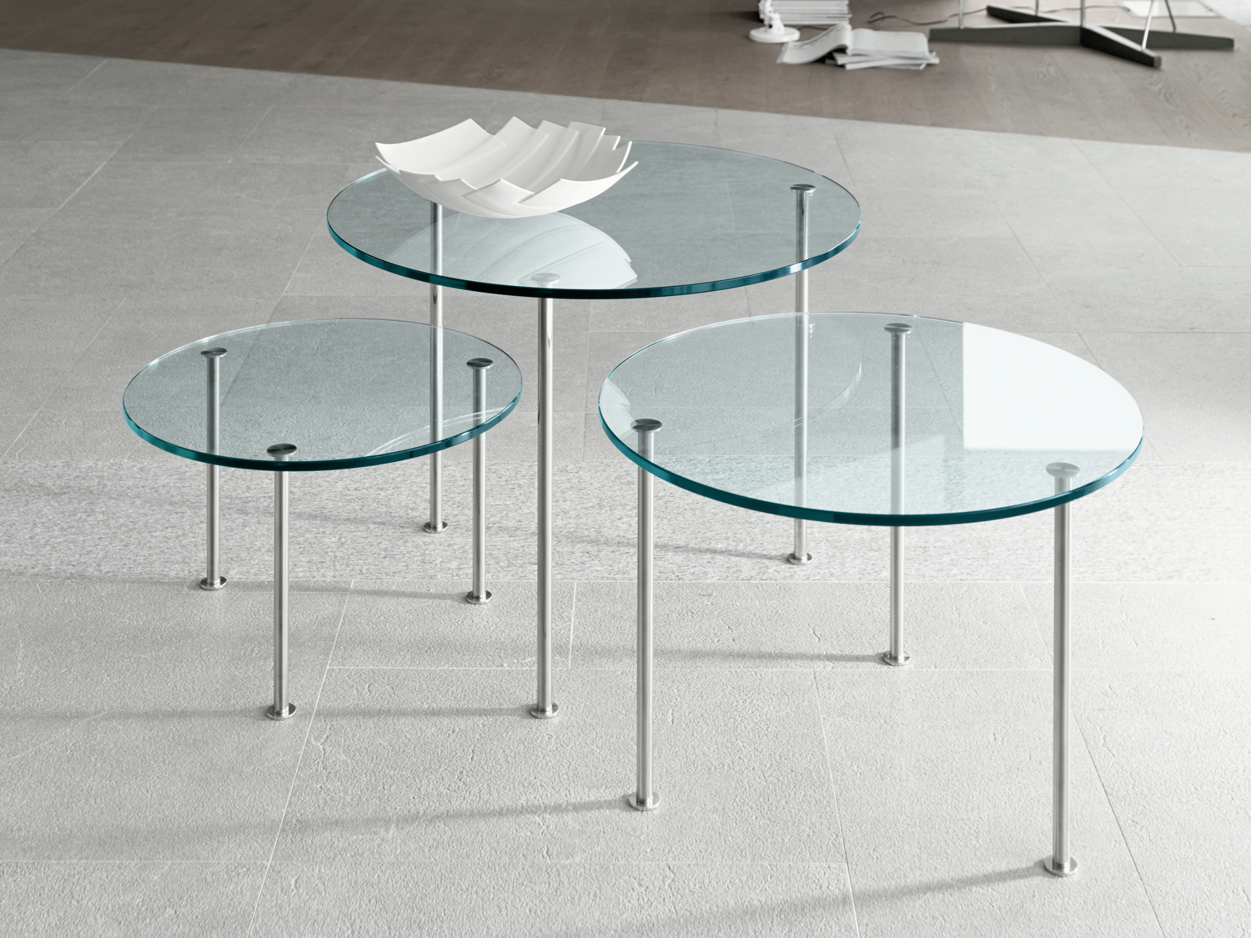 Table basse en verre twig by t d tonelli design design studio d 39 urbino l - Table basse design en verre ...