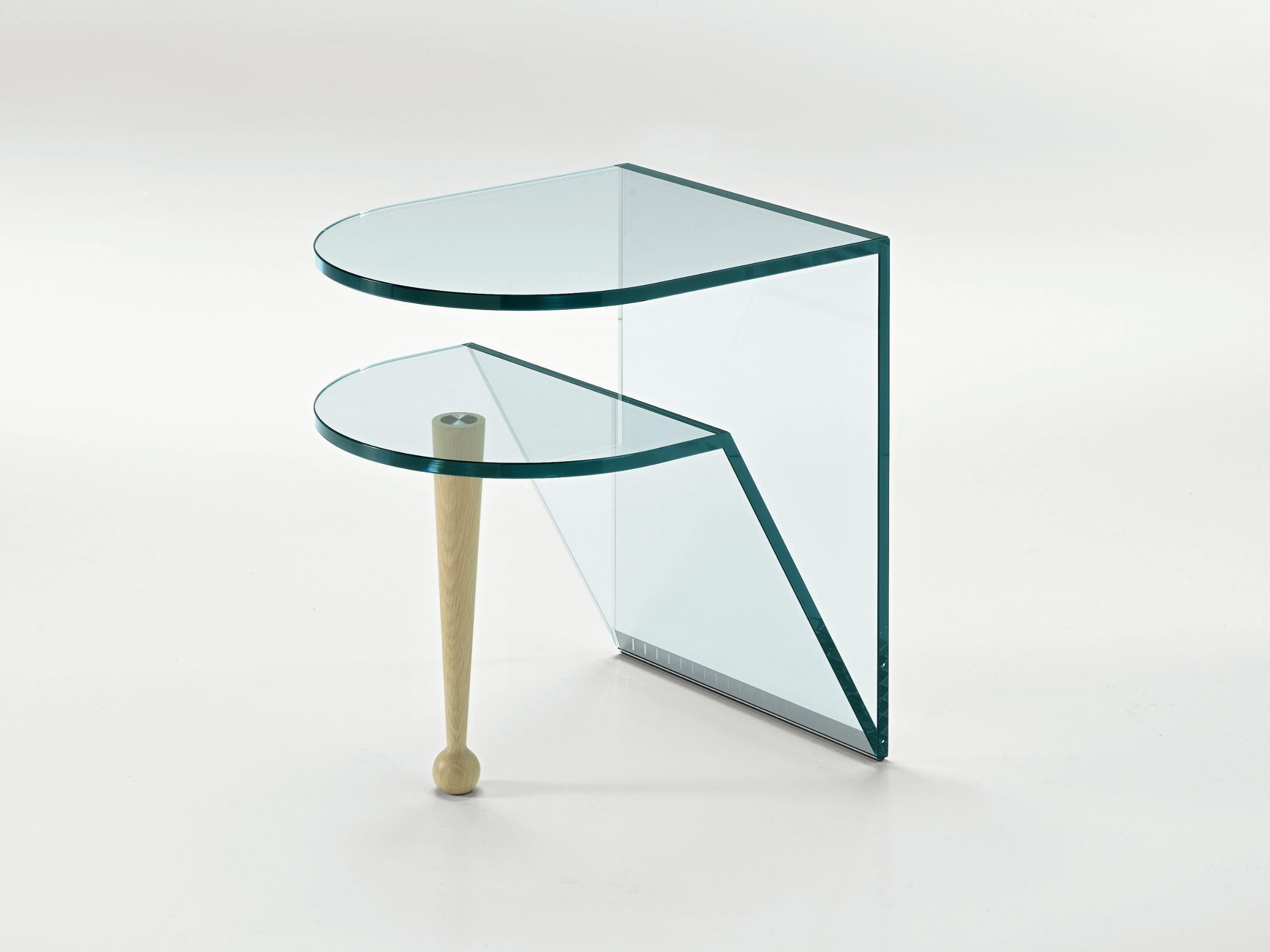 Table en verre console ordinateur table d 39 appoint 80 x - Table d appoint ordinateur ...