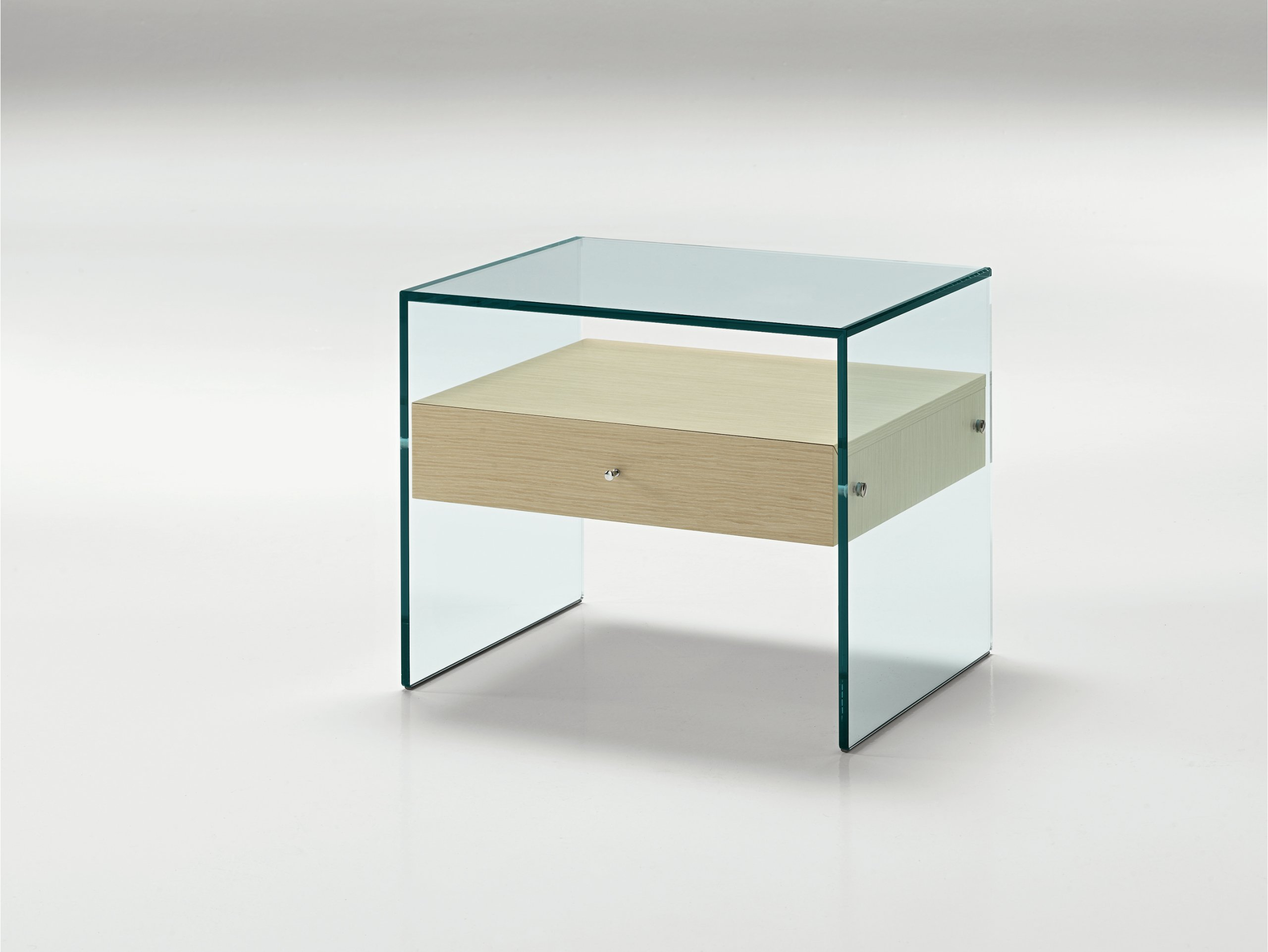 Glass bedside table secret by t d tonelli design for Table design 70