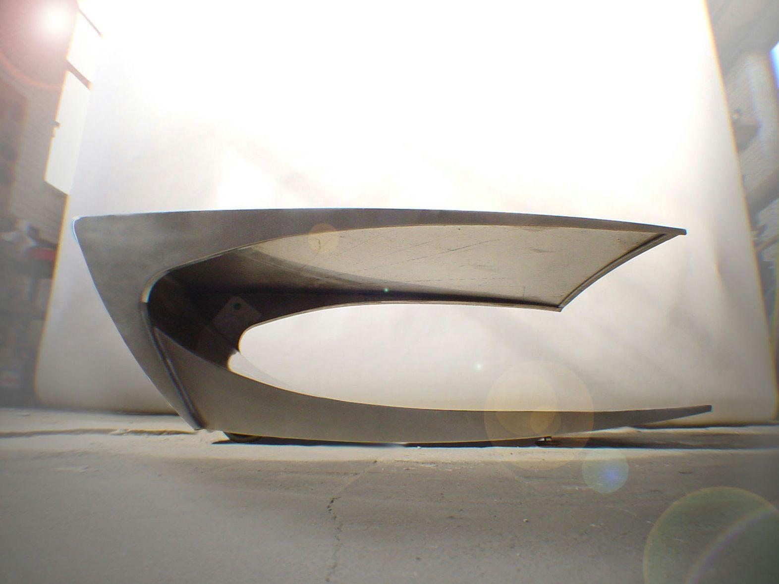 couchtisch edelstahl gebürstet: designer couchtisch beistelltisch