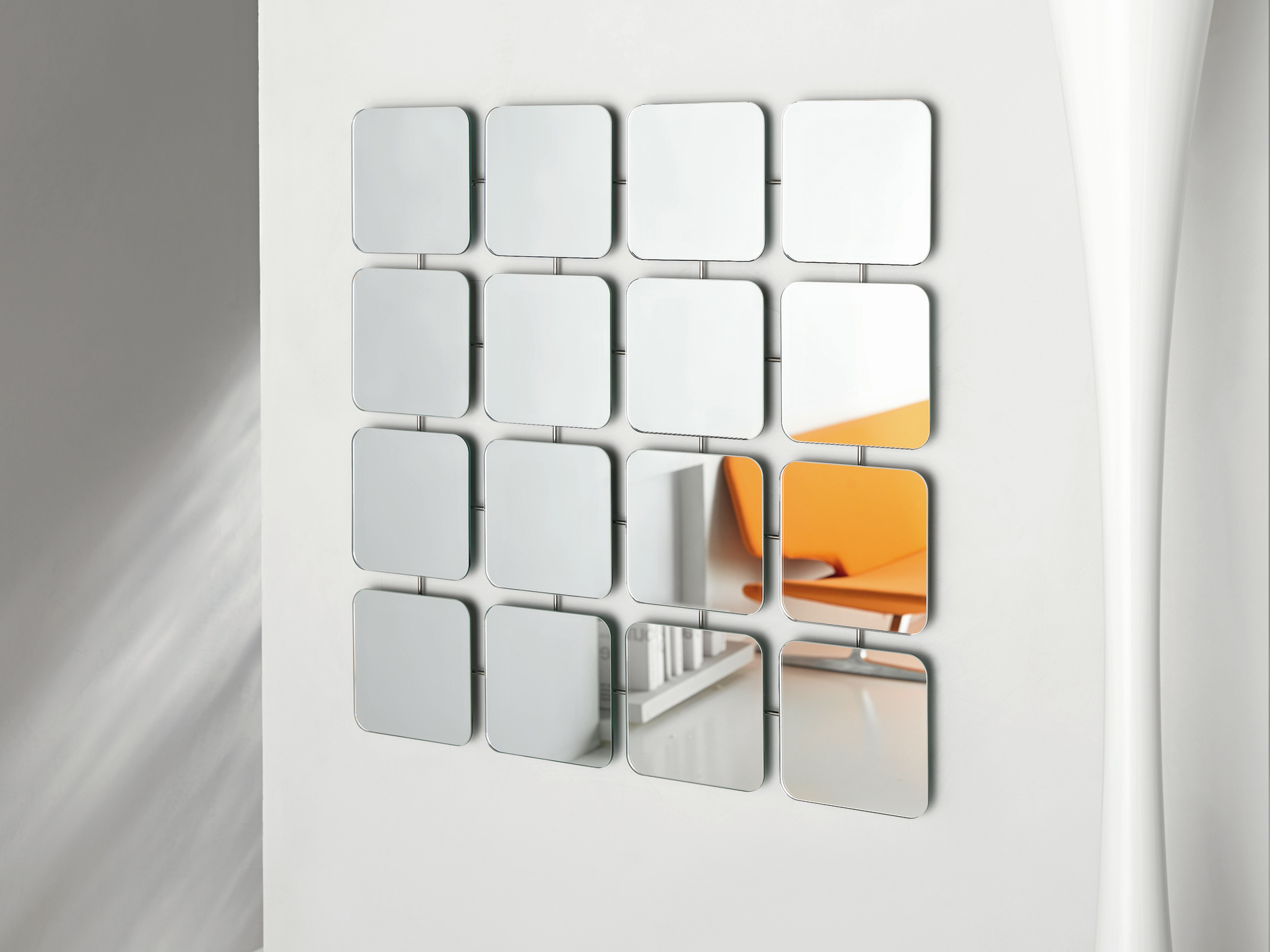 Miroir mural bungalows round square by t d tonelli design for Architecture t square