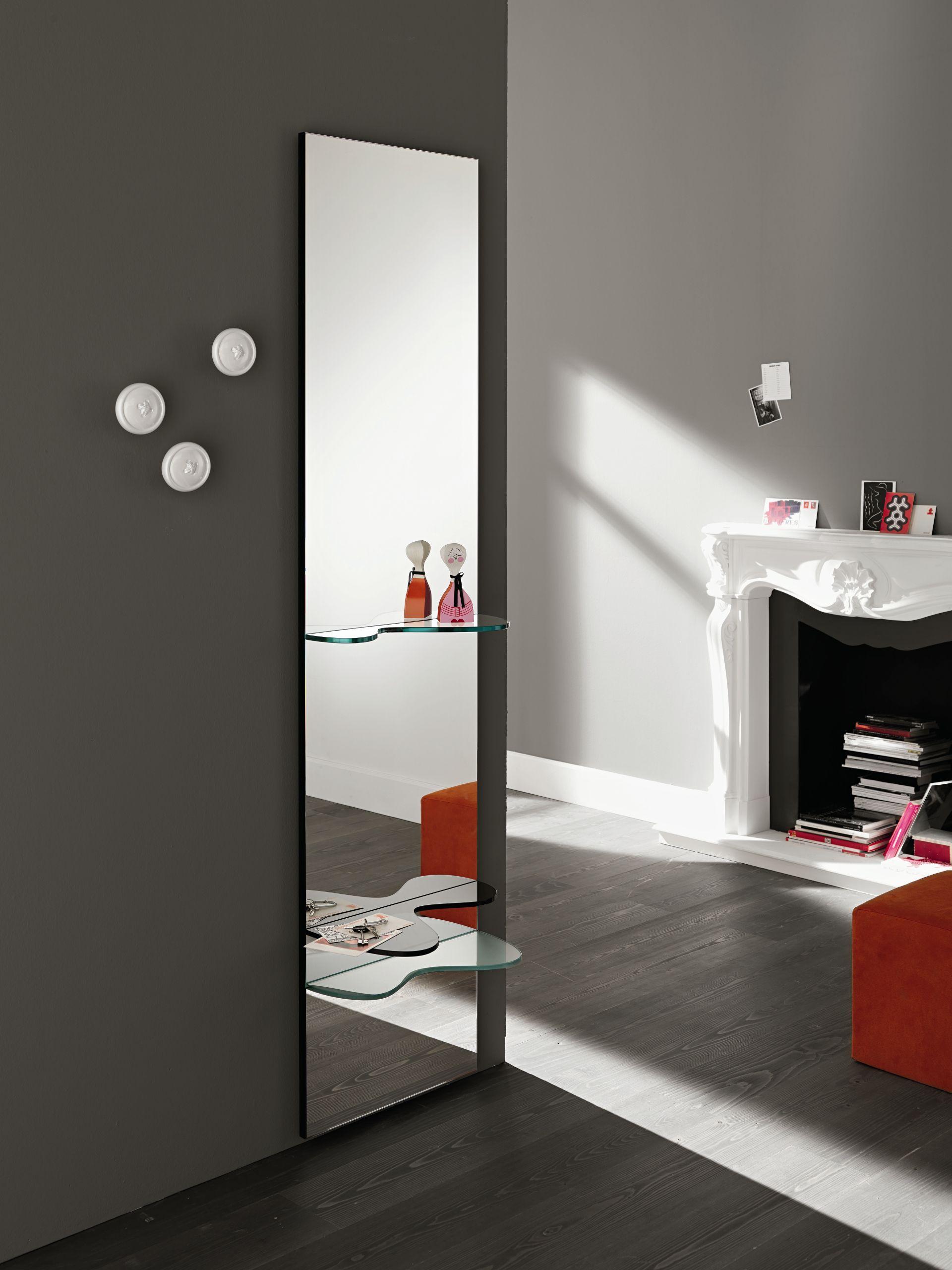 Specchio rettangolare a parete sill by t d tonelli design - Parete a specchio ...