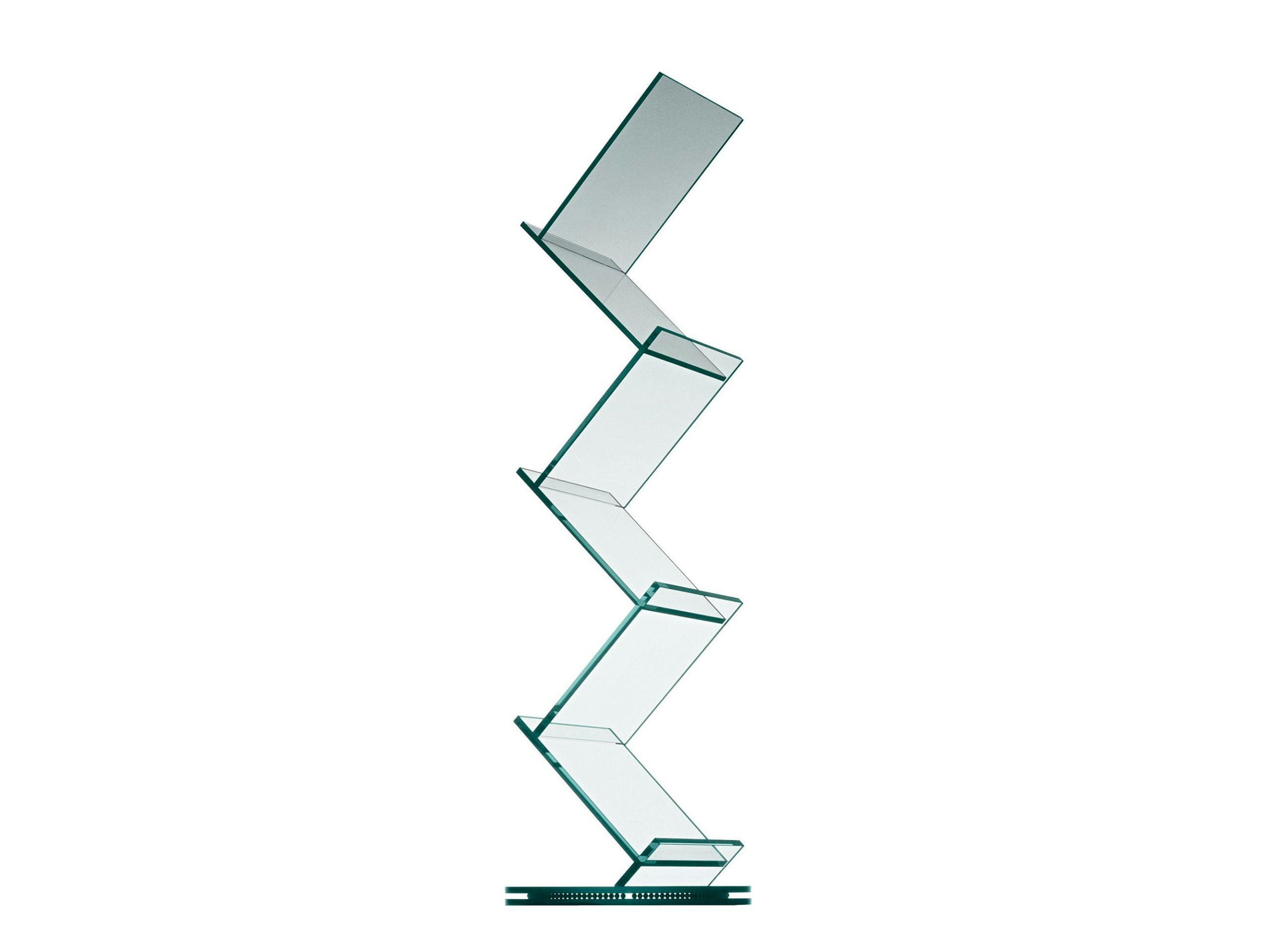 drehbares b cherregal aus glas albero by td tonelli. Black Bedroom Furniture Sets. Home Design Ideas